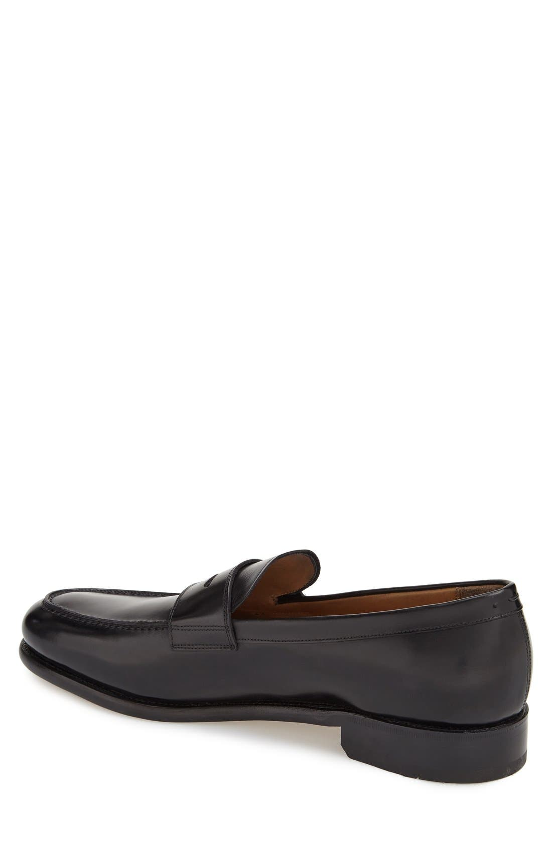 'Rinaldo' Penny Loafer,                             Alternate thumbnail 2, color,                             Nero Leather