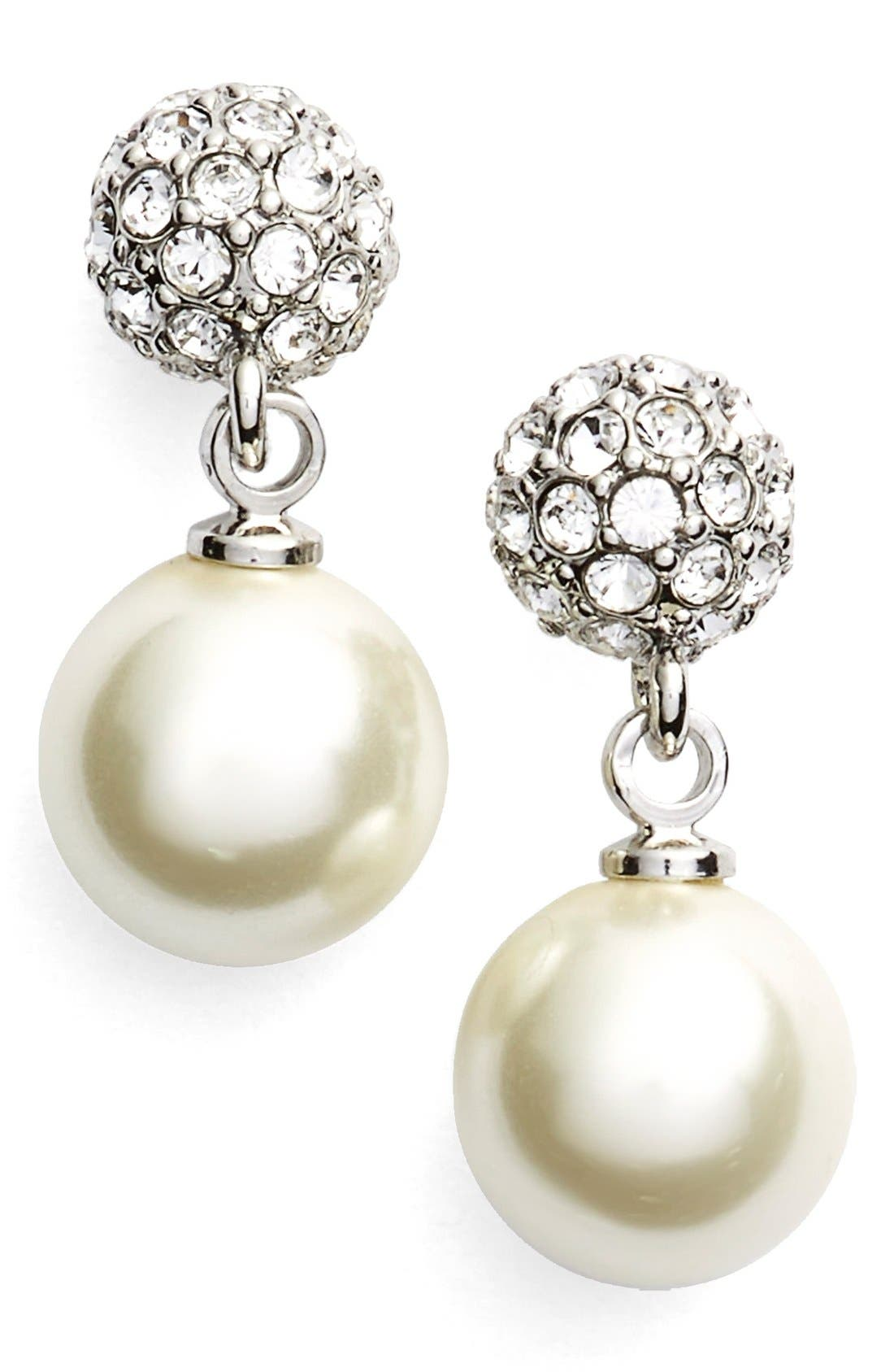Givenchy Fireball Imitation Pearl Drop Earrings