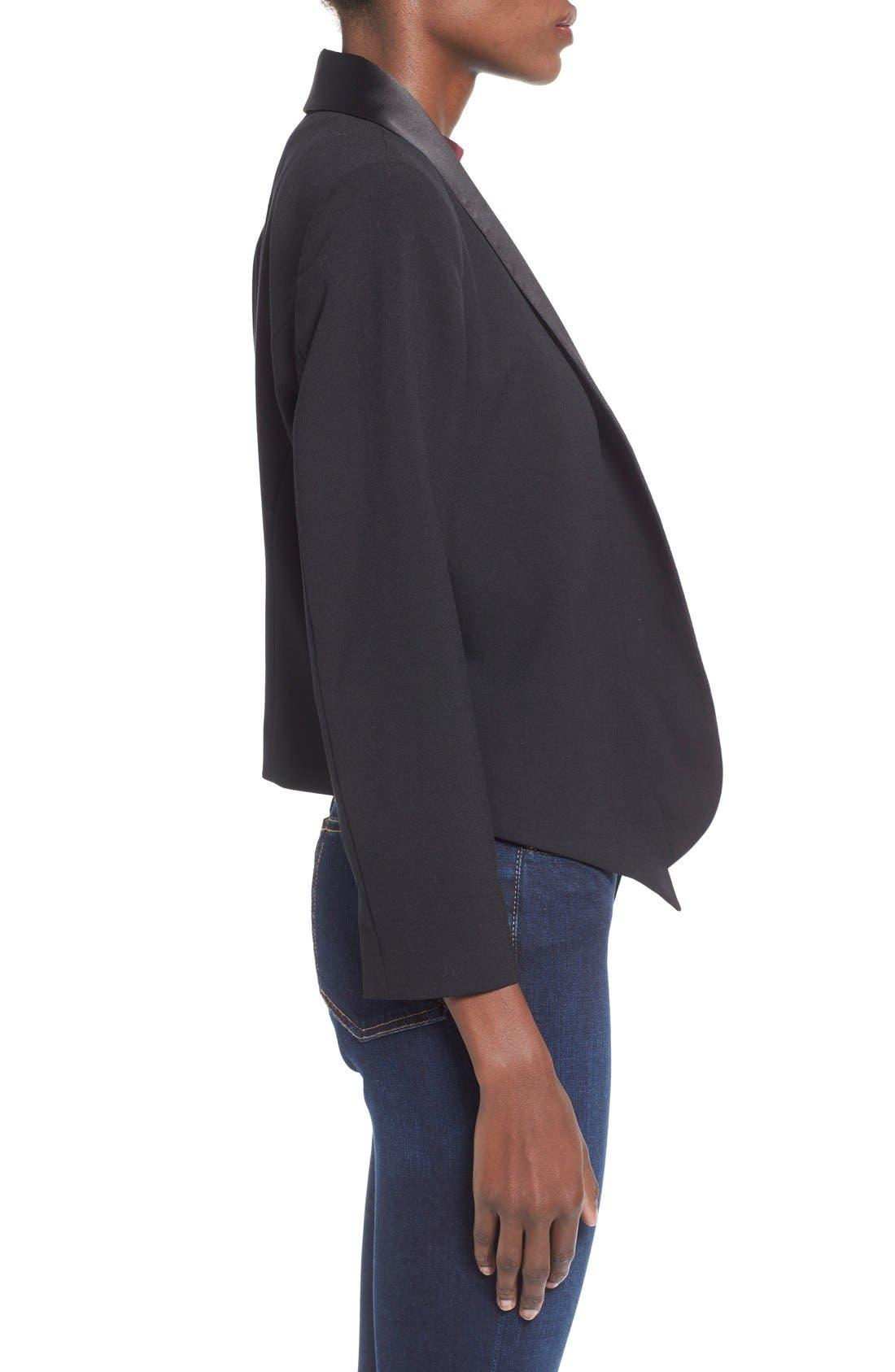 Alternate Image 4  - Mural Open Front Tuxedo Blazer