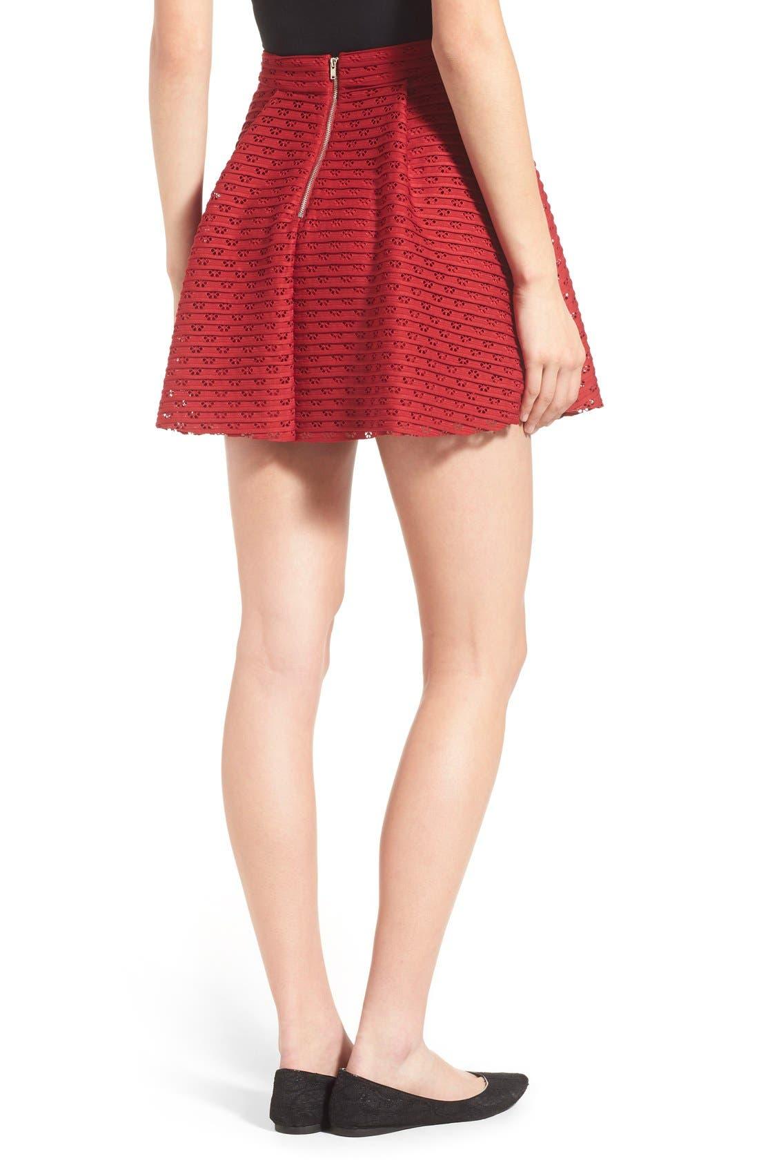 Alternate Image 2  - Lush Pleated Fit & Flare Miniskirt