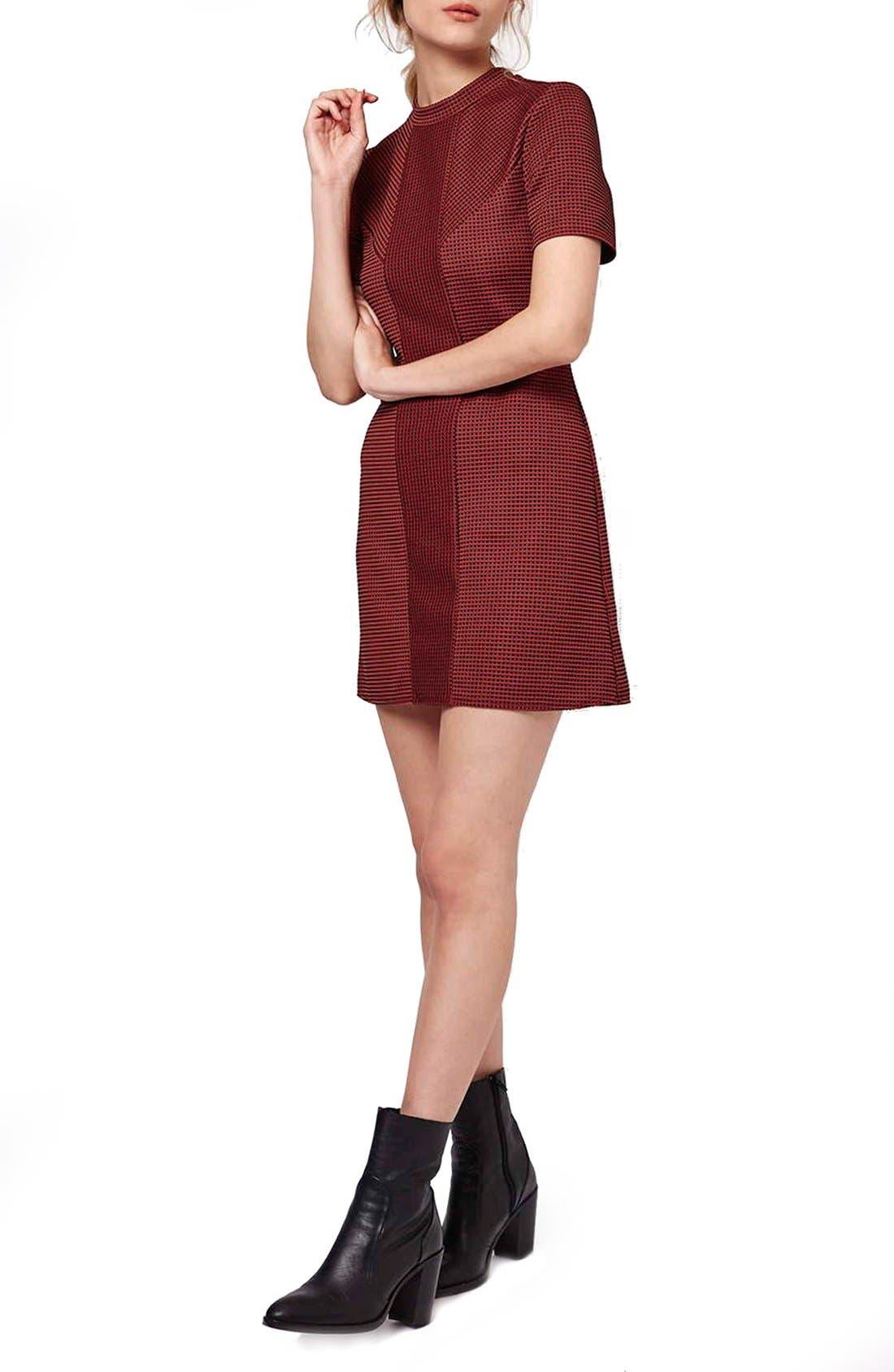 Alternate Image 2  - Topshop Paneled A-Line Dress (Petite)