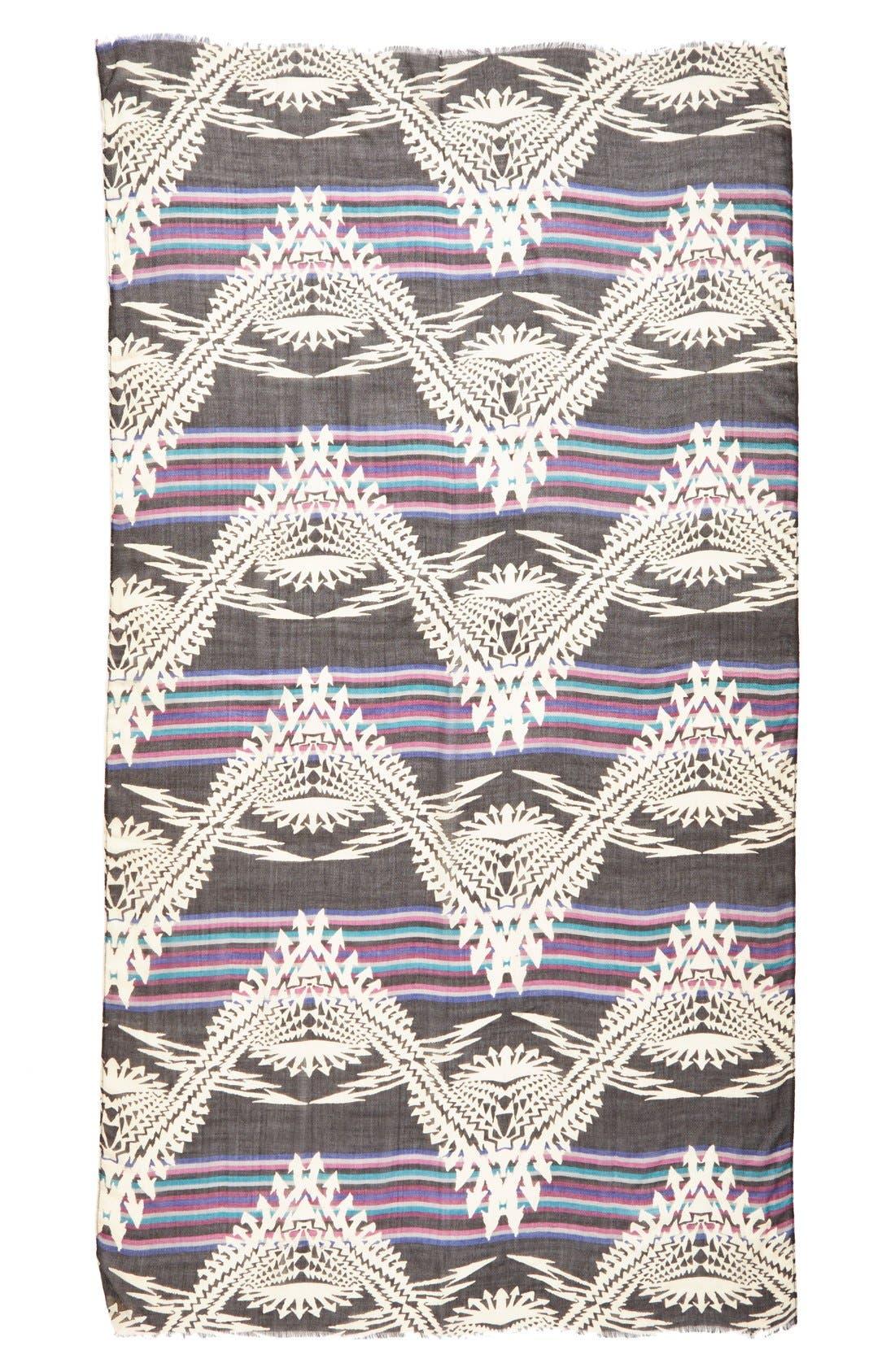 Alternate Image 2  - Steve Madden Geometric Print Stripe Scarf