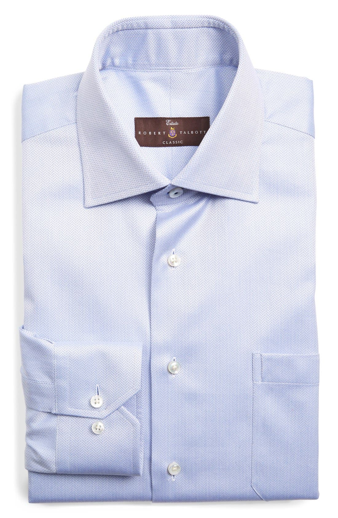 Classic Fit Dress Shirt,                         Main,                         color, Sky
