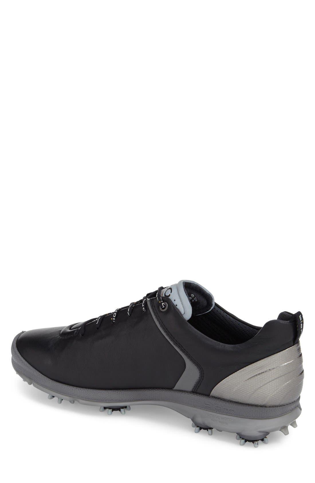 BIOM Hydromax Waterproof Golf Shoe,                             Alternate thumbnail 2, color,                             Black/ Transparent