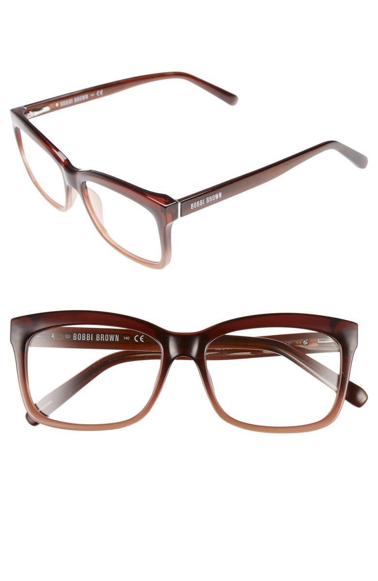 Bobbi Brown THE BROOKLYN 53MM READING GLASSES - BROWN