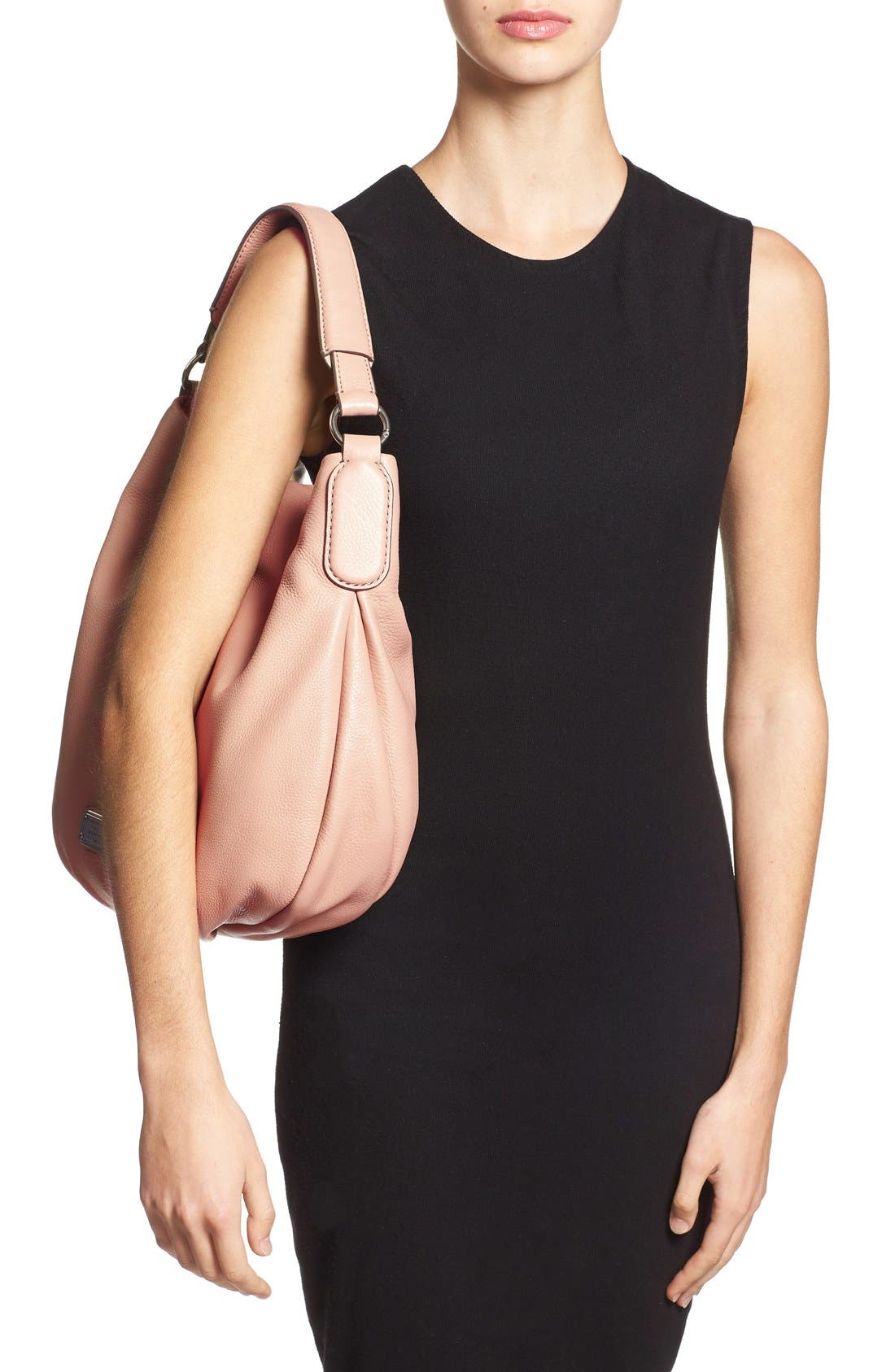 MARC BY MARC JACOBS 'New Q Hillier' Hobo,                             Alternate thumbnail 2, color,                             Cameo Nude