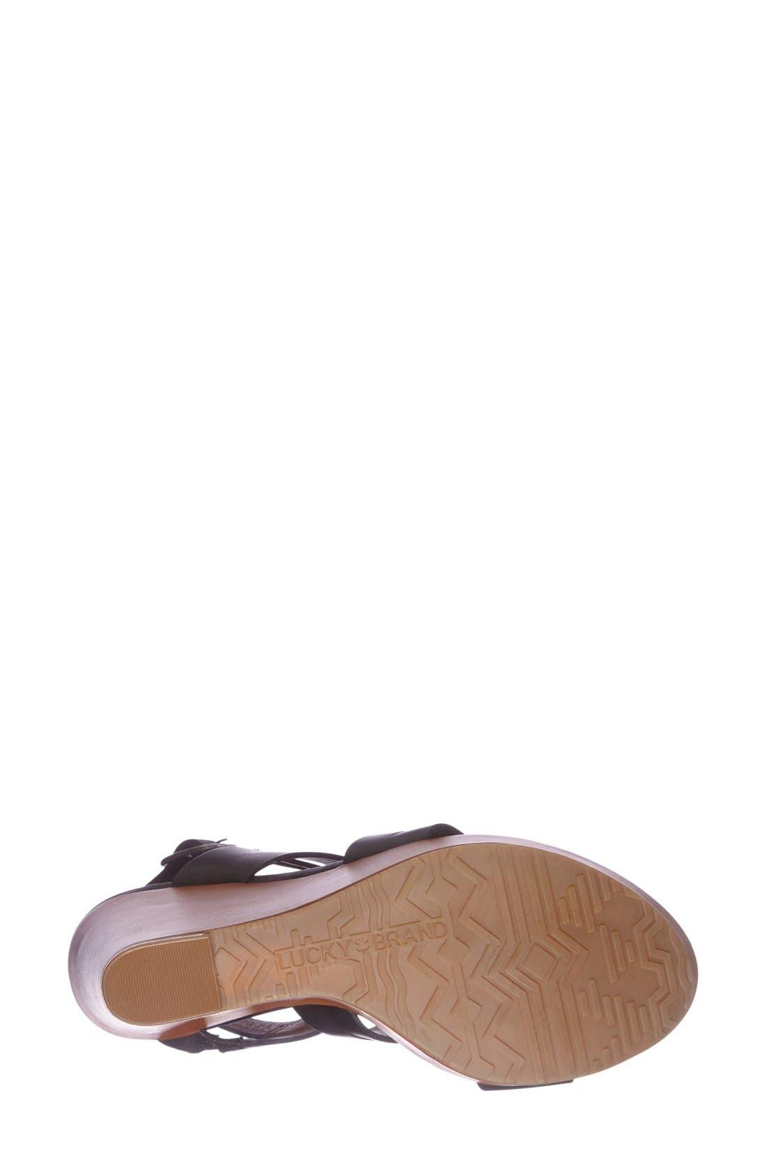 Alternate Image 4  - Lucky Brand 'Fairfina' Wedge Sandal (Women)