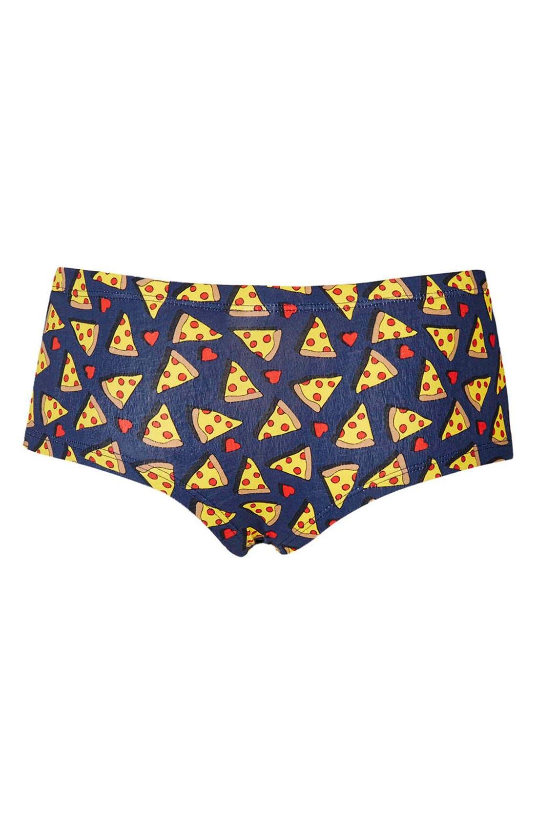 Alternate Image 2  - Topshop Pizza Print Cheeky Boyshorts