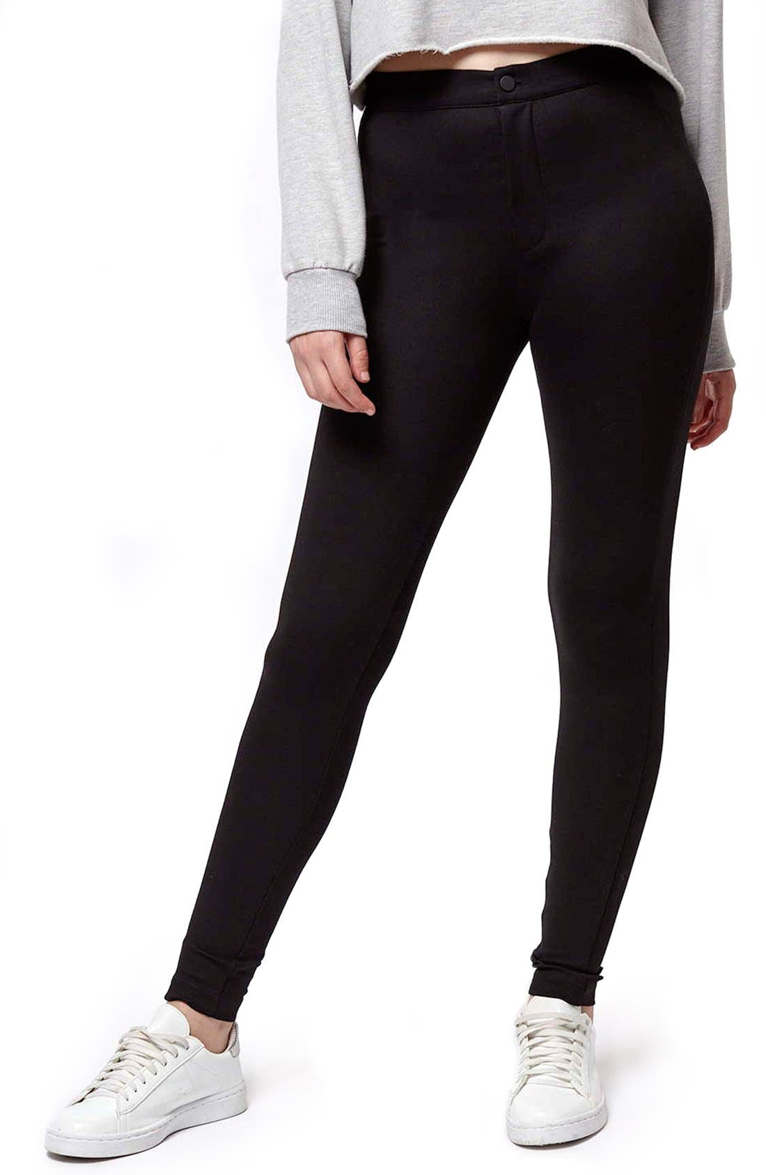 Alternate Image 1 Selected - Topshop Seamed Ponte Trouser Leggings