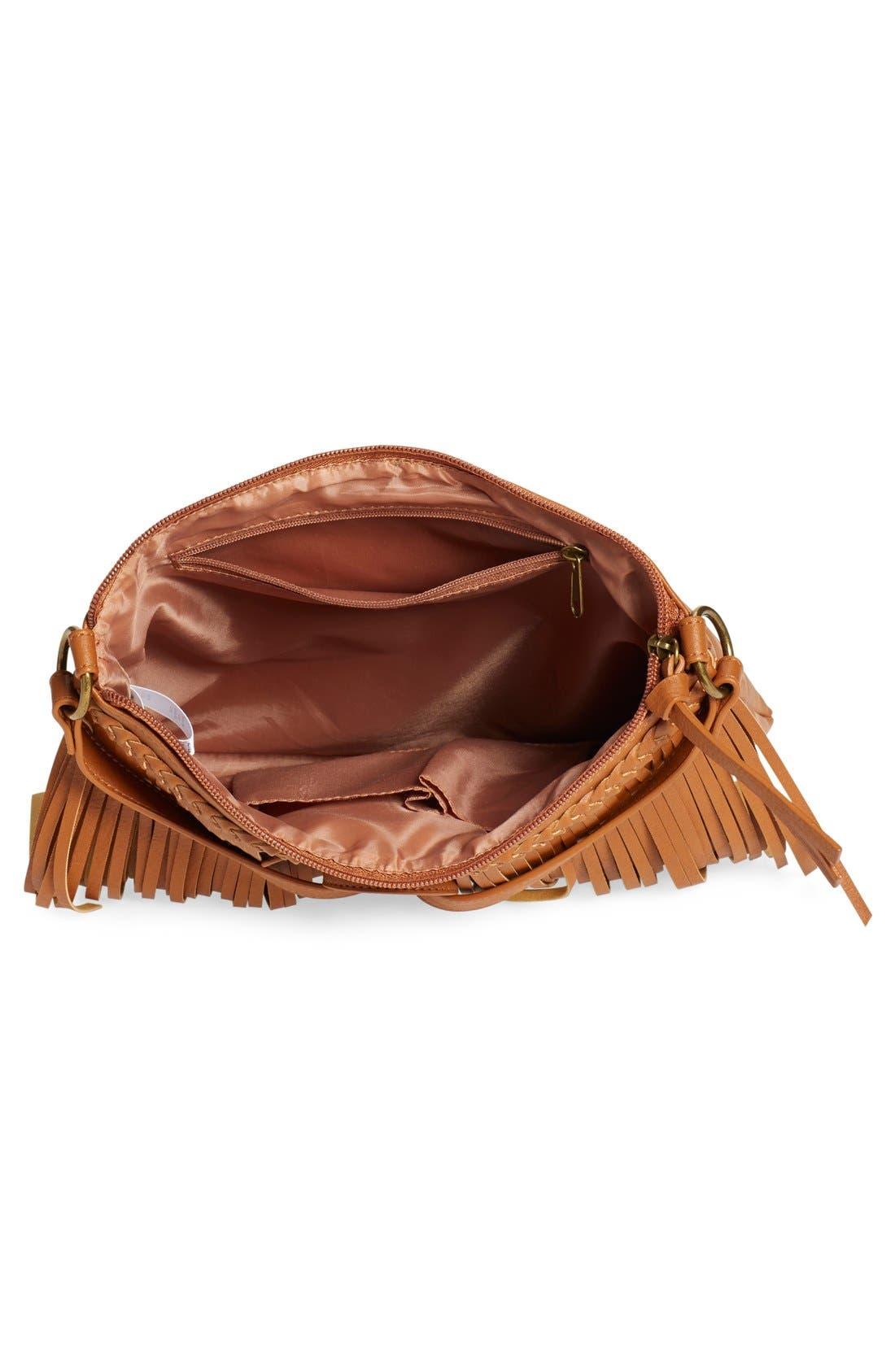 Alternate Image 4  - BP. Layered Fringe Crossbody Bag