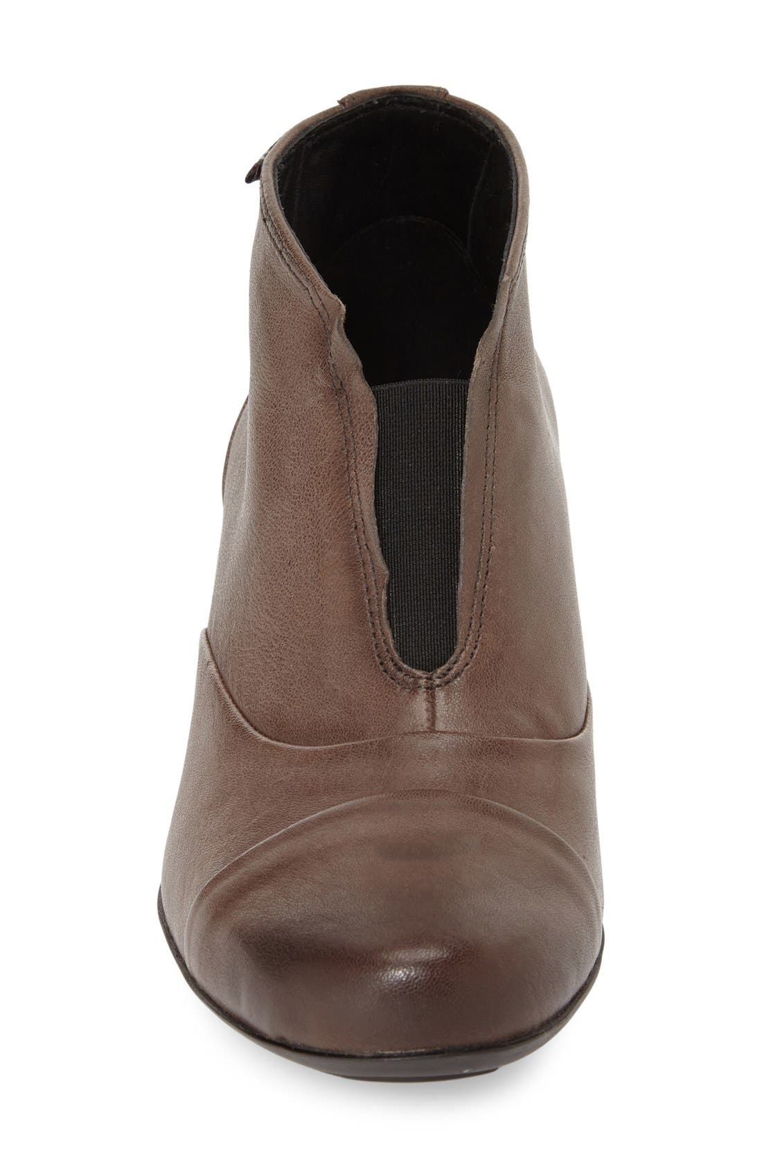 'Maddie' Bootie,                             Alternate thumbnail 3, color,                             Dark Taupe Nappa
