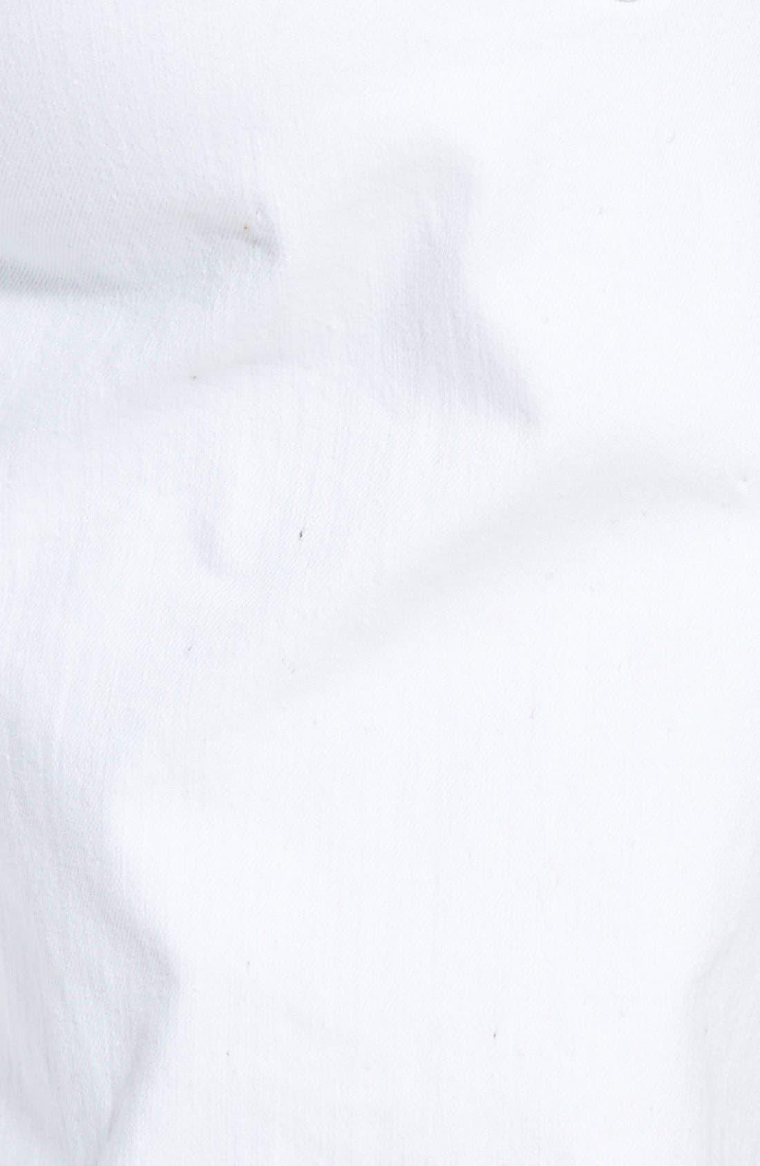Stretch Organic Cotton Skinny Jeans,                             Alternate thumbnail 6, color,                             White