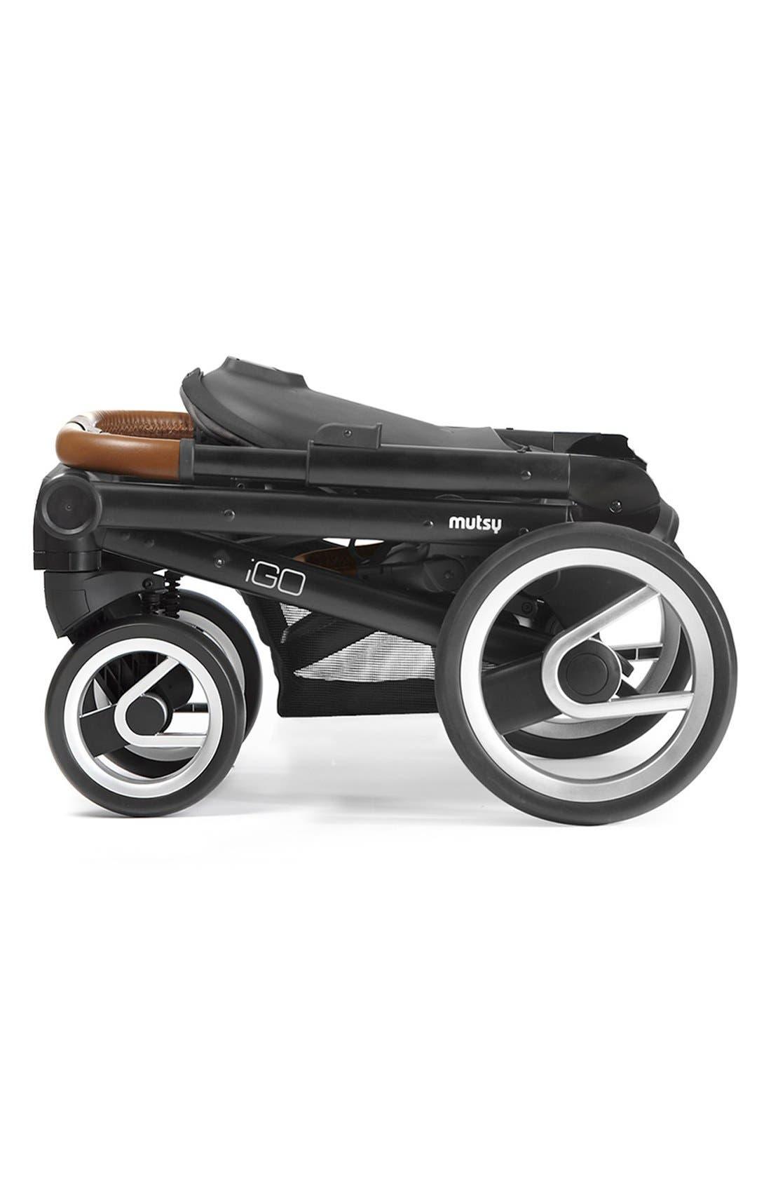 Igo - Urban Nomad Stroller,                             Alternate thumbnail 6, color,                             Black/ White/ Blue