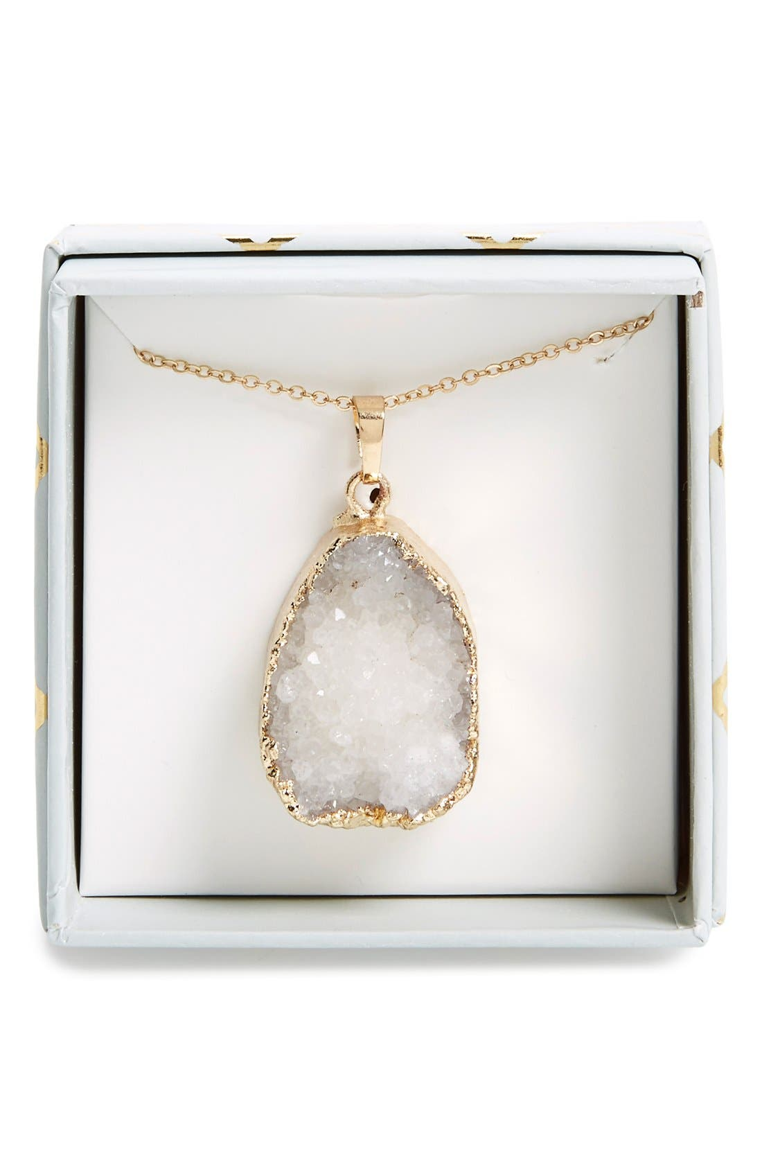 Main Image - Panacea Drusy Pendant Necklace