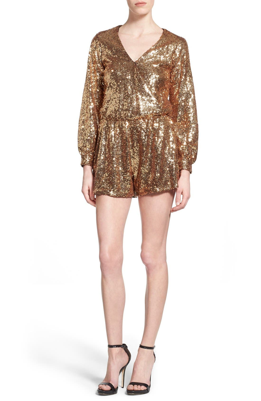 Alternate Image 1 Selected - 4SI3NNA Sequin Romper