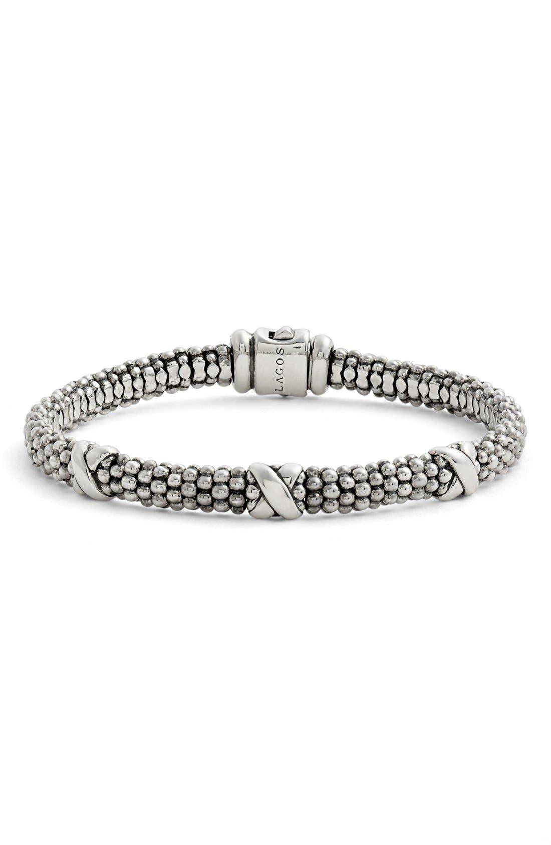 LAGOS Signature Caviar Mini Oval Rope Bracelet
