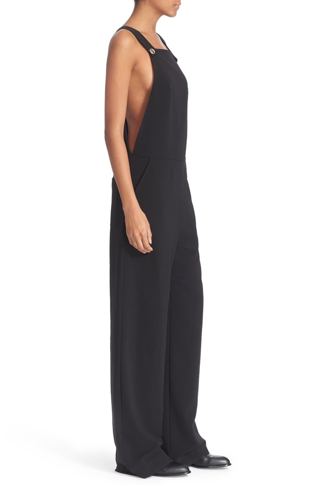 Alternate Image 3  - T by Alexander Wang Twill Jumpsuit with Strap Detail