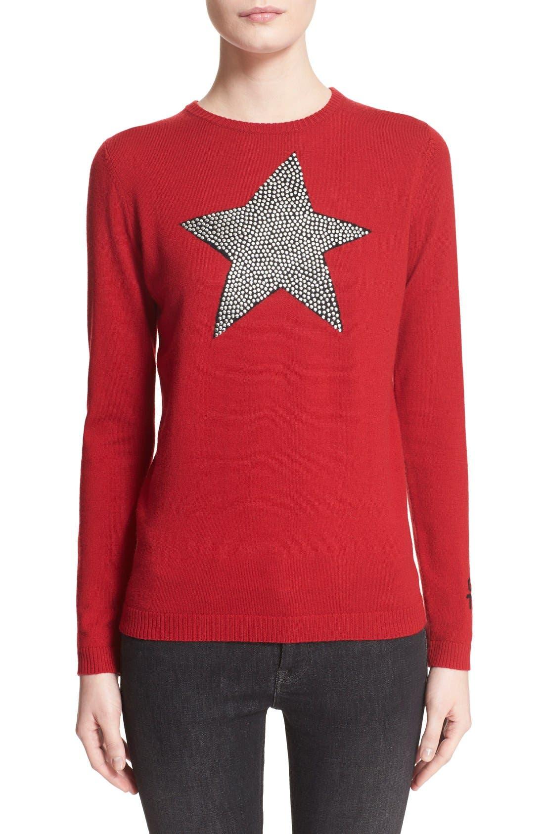 Main Image - Bella Freud 'Star Studded' Crewneck Wool Sweater
