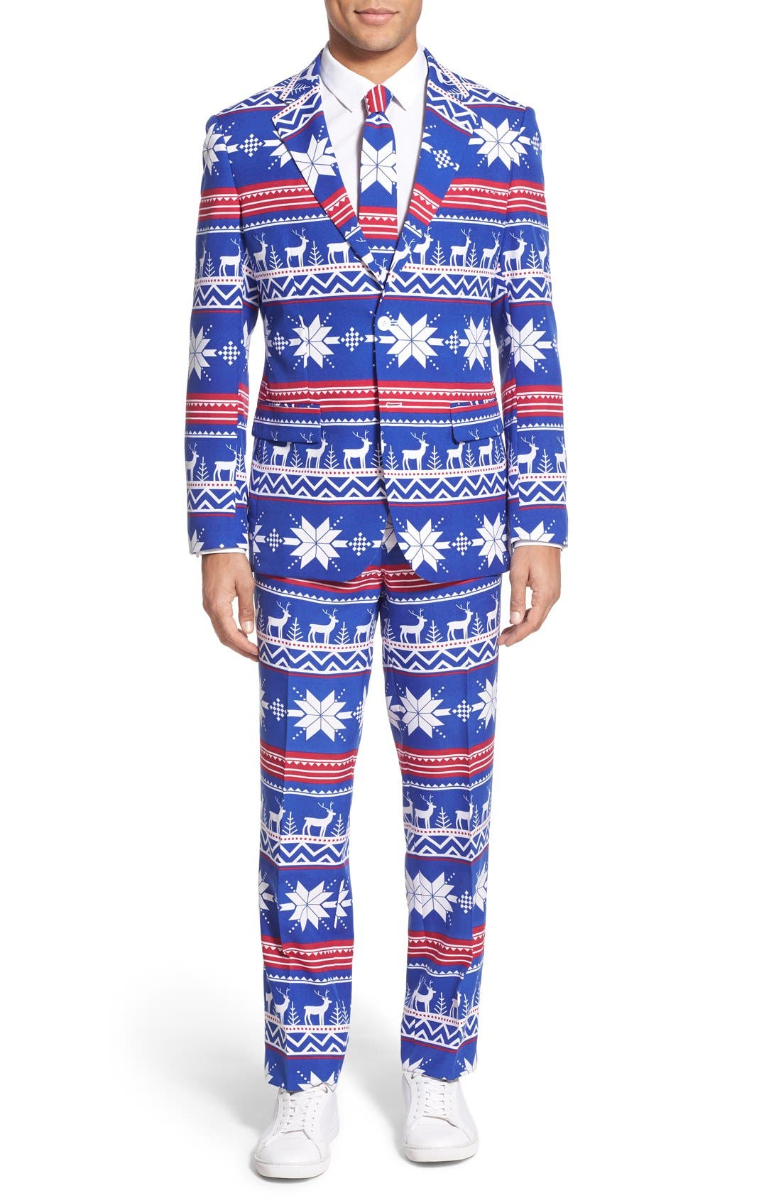'Rudolph' Holiday Suit & Tie,                             Main thumbnail 1, color,                             Blue