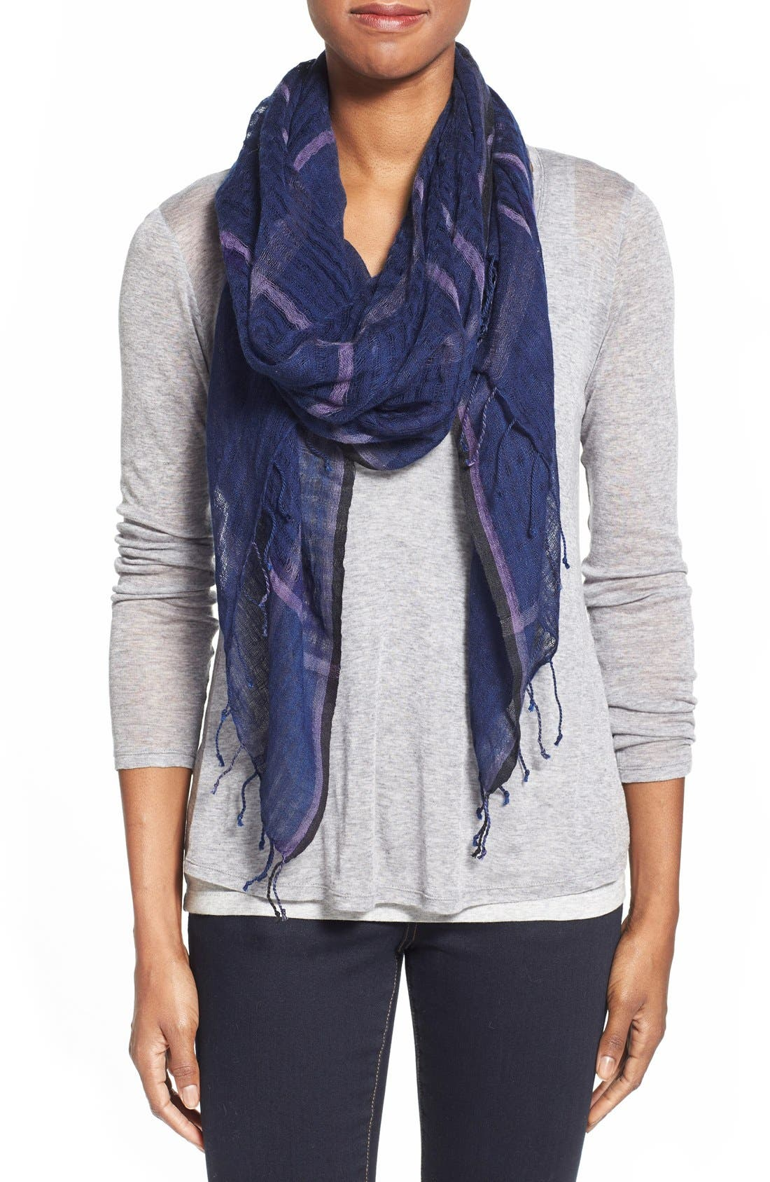 Main Image - Eileen Fisher Airy Linen Blend Scarf