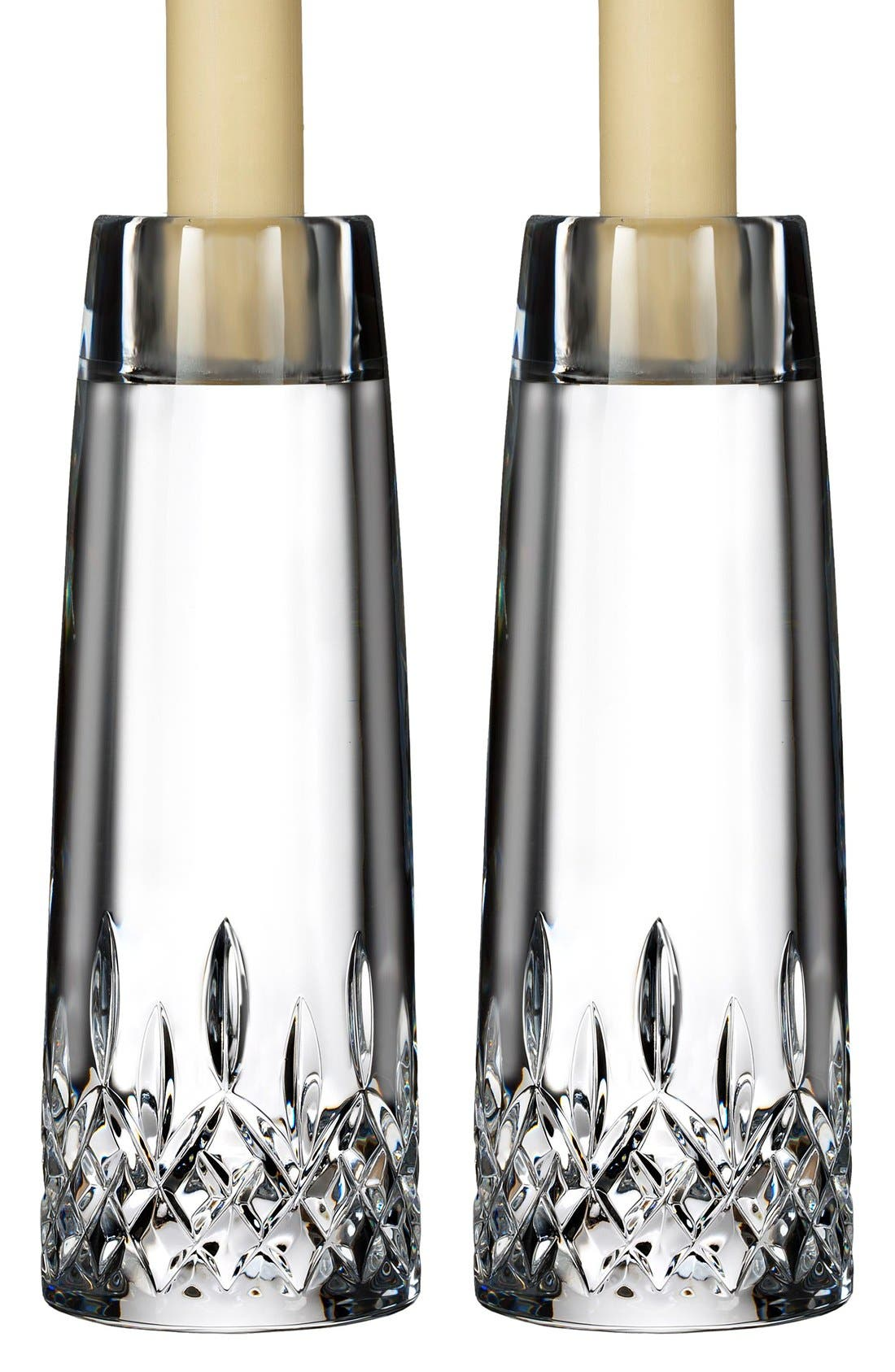 Alternate Image 2  - Waterford 'Lismore Encore' Lead Crystal Candlesticks (Set of 2)