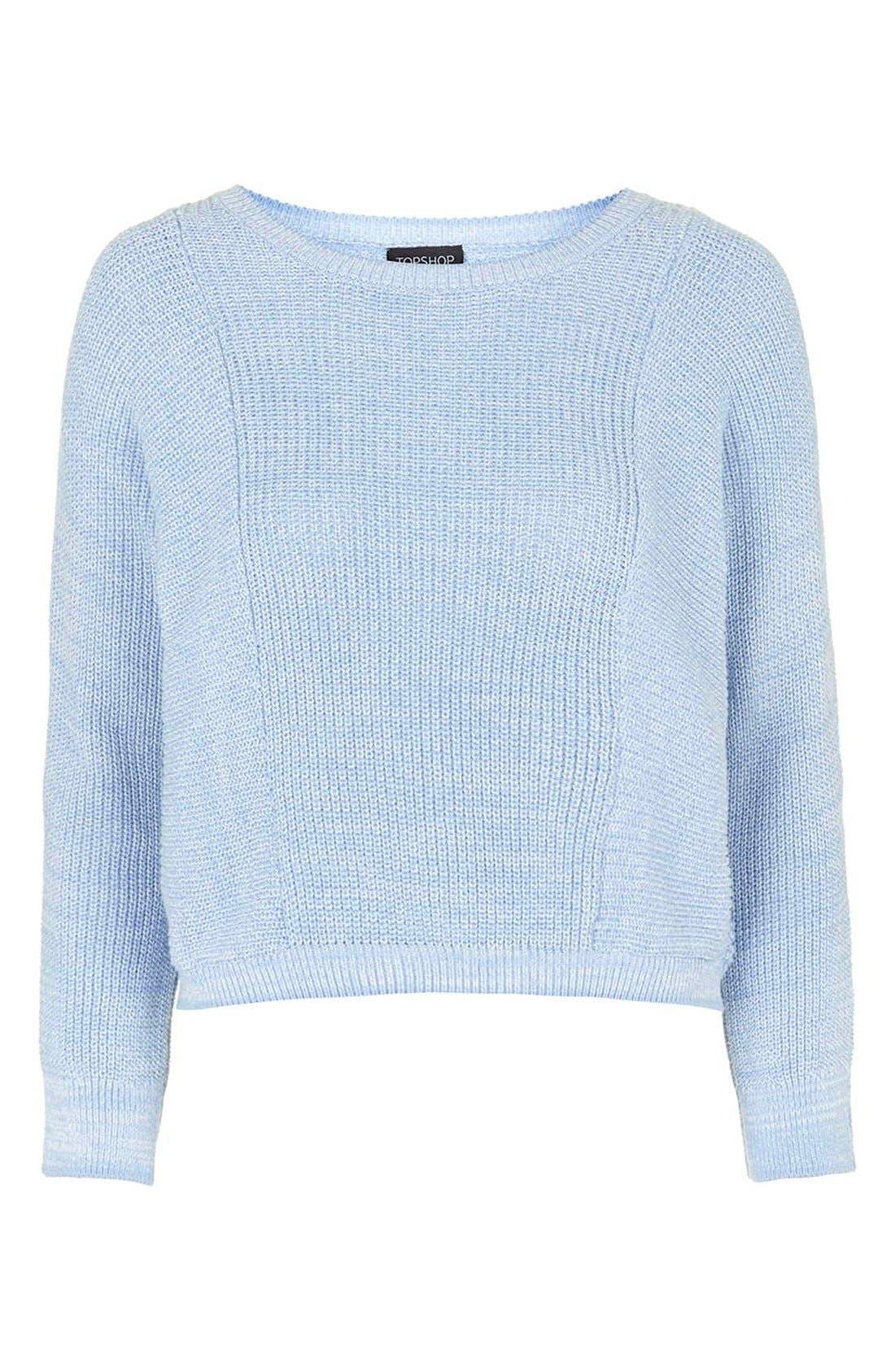 Alternate Image 4  - Topshop Ribbed Crop Sweater