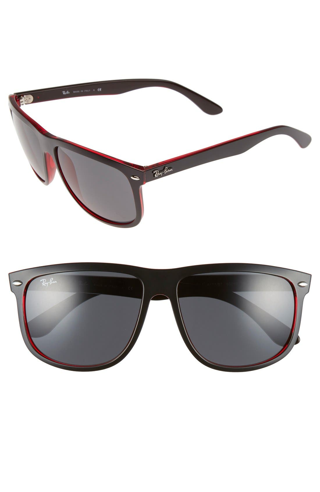 Alternate Image 1 Selected - Ray-Ban Boyfriend 60mm Flat Top Sunglasses