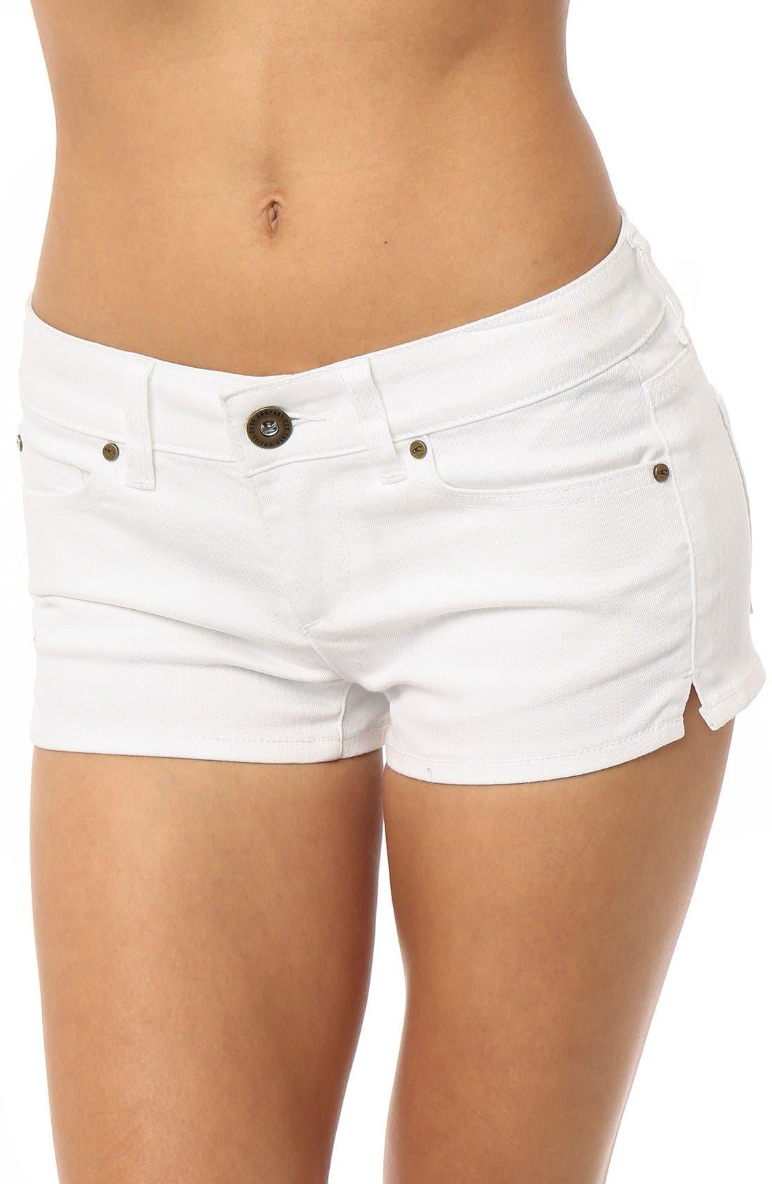 Alternate Image 1 Selected - O'Neill 'Wesley' Denim Shorts (White)