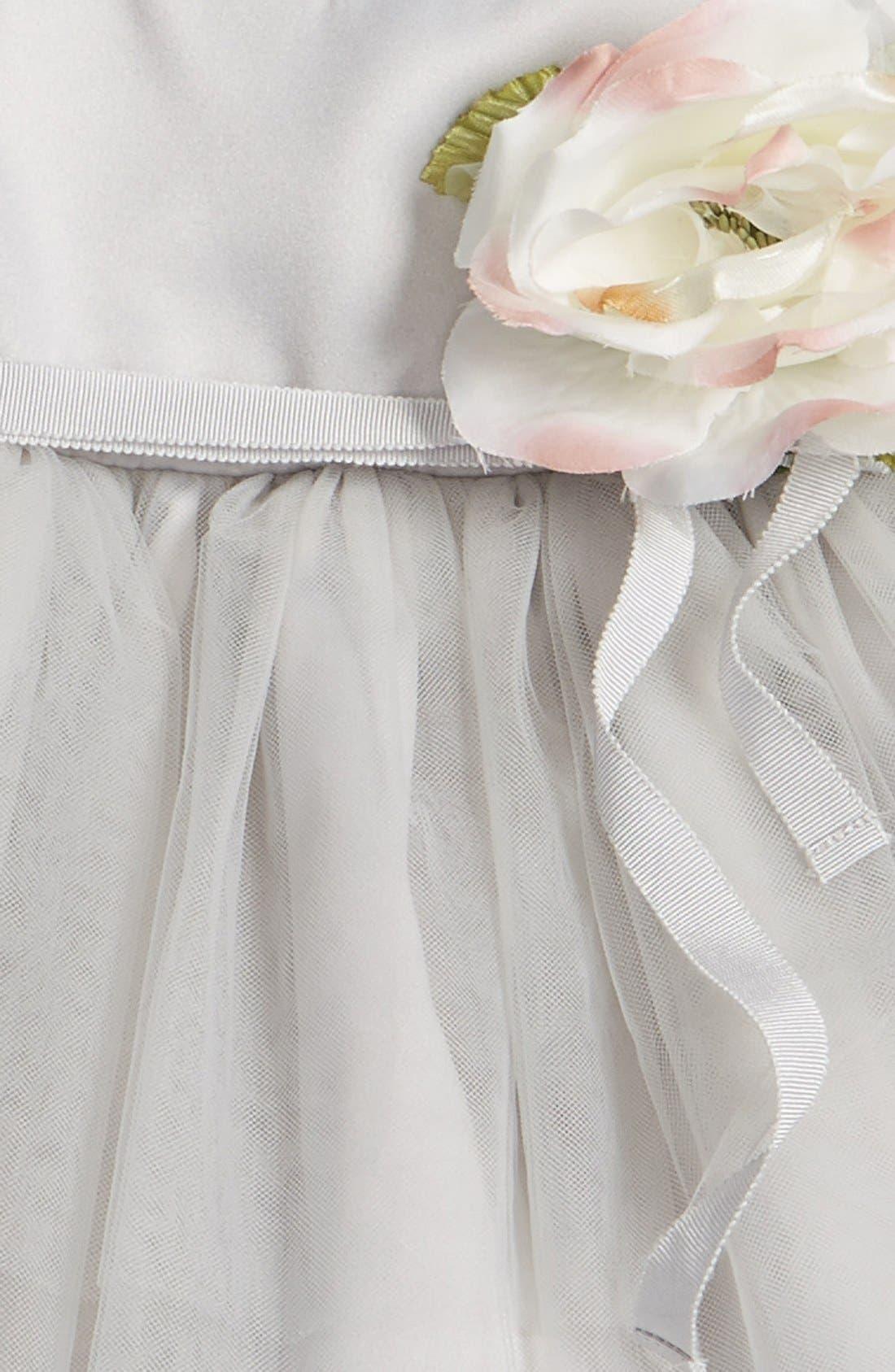 Tulle Ballerina Dress,                             Alternate thumbnail 3, color,                             Silver