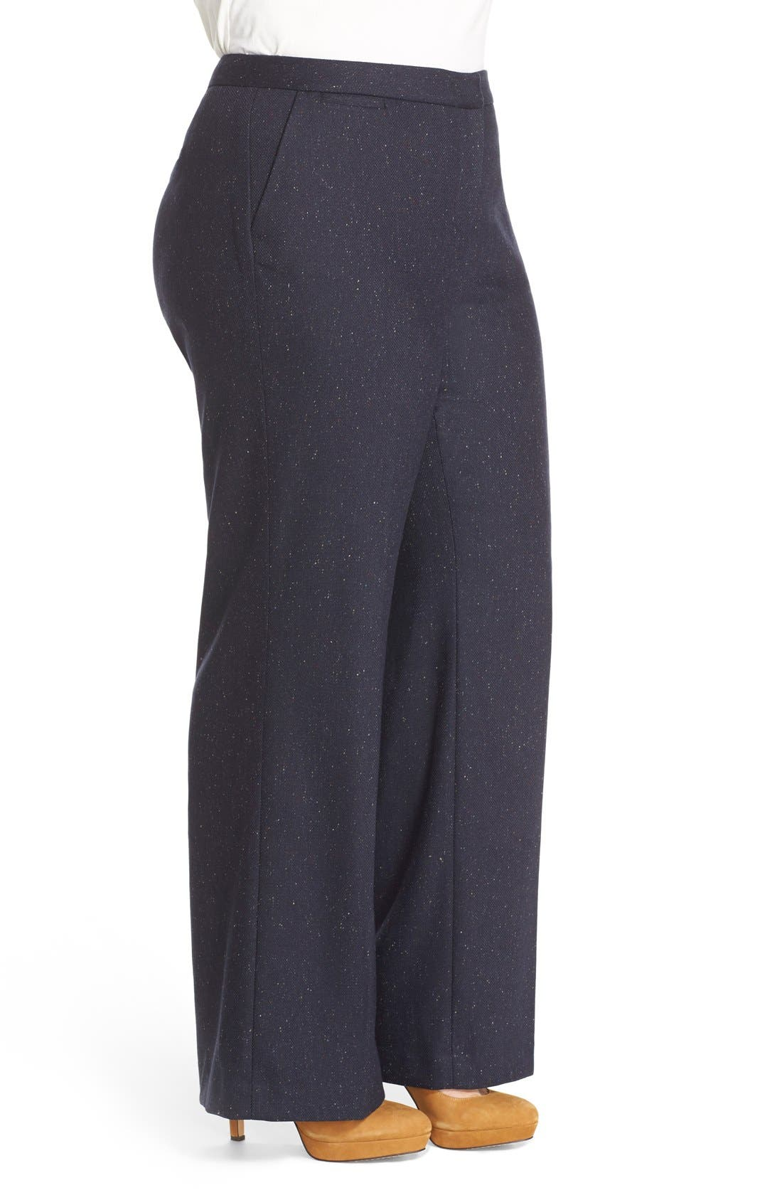 Alternate Image 3  - Halogen® Wide Leg Pants (Plus Size)