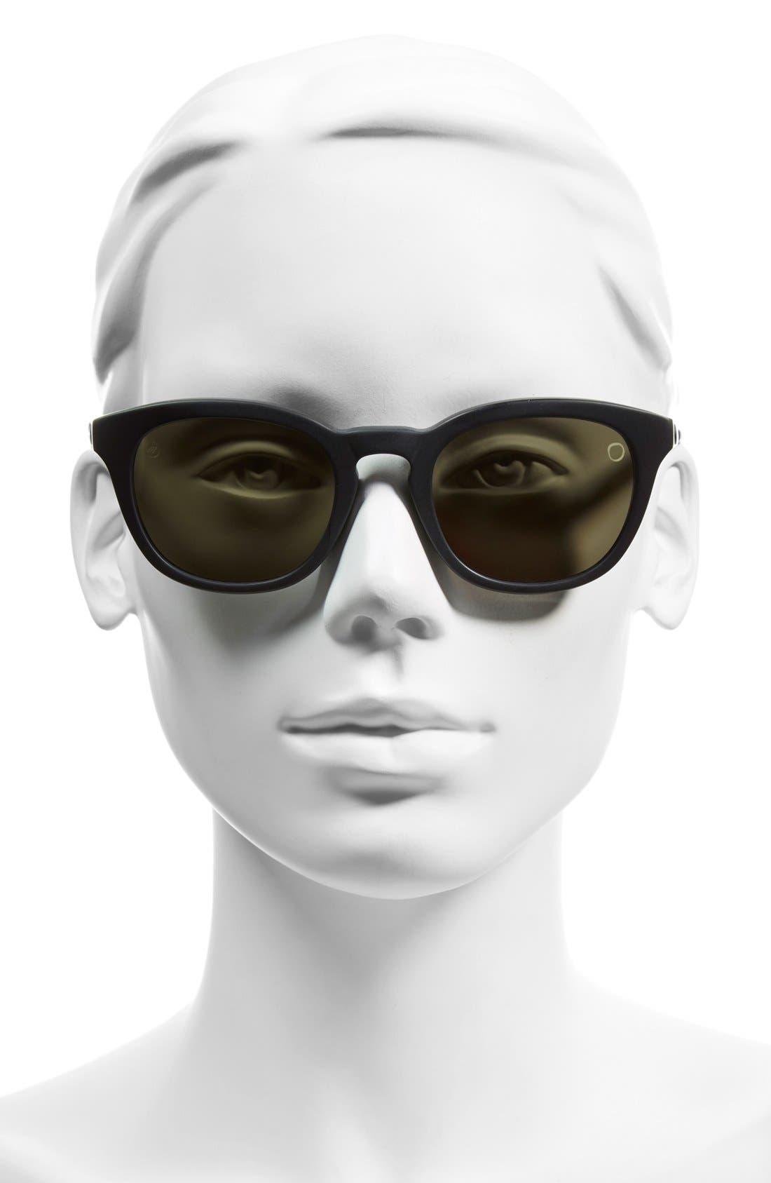 'Txoko' 50mm Sunglasses,                             Alternate thumbnail 2, color,                             Matte Black Tortoise/ Grey
