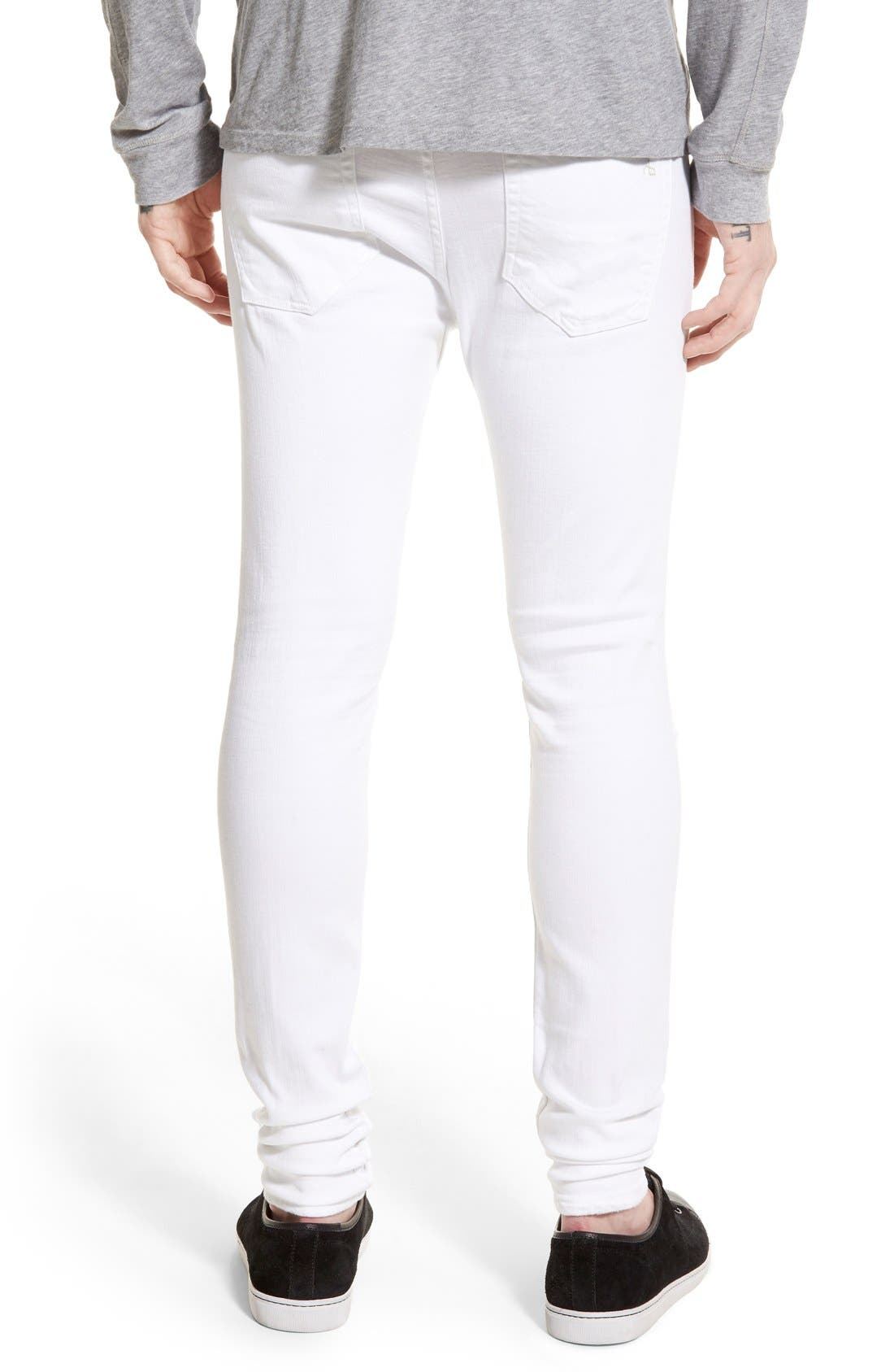 Alternate Image 2  - rag & bone Standard Issue Fit 1 Skinny Fit Jeans (Aged White)