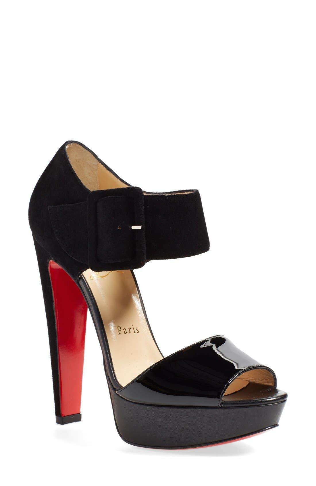 Alternate Image 1 Selected - Christian Louboutin 'Haute Retenue' Platform Sandal