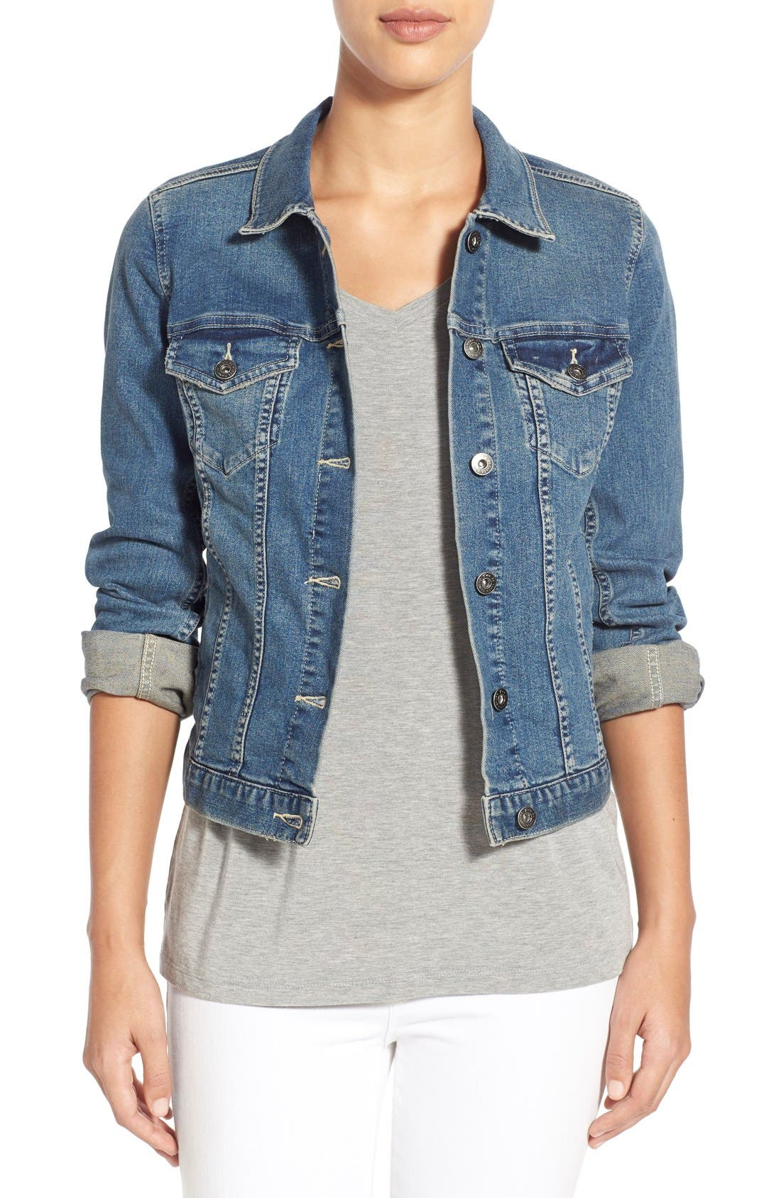 Alternate Image 1 Selected - Two by Vince Camuto Jean Jacket (Regular & Petite)