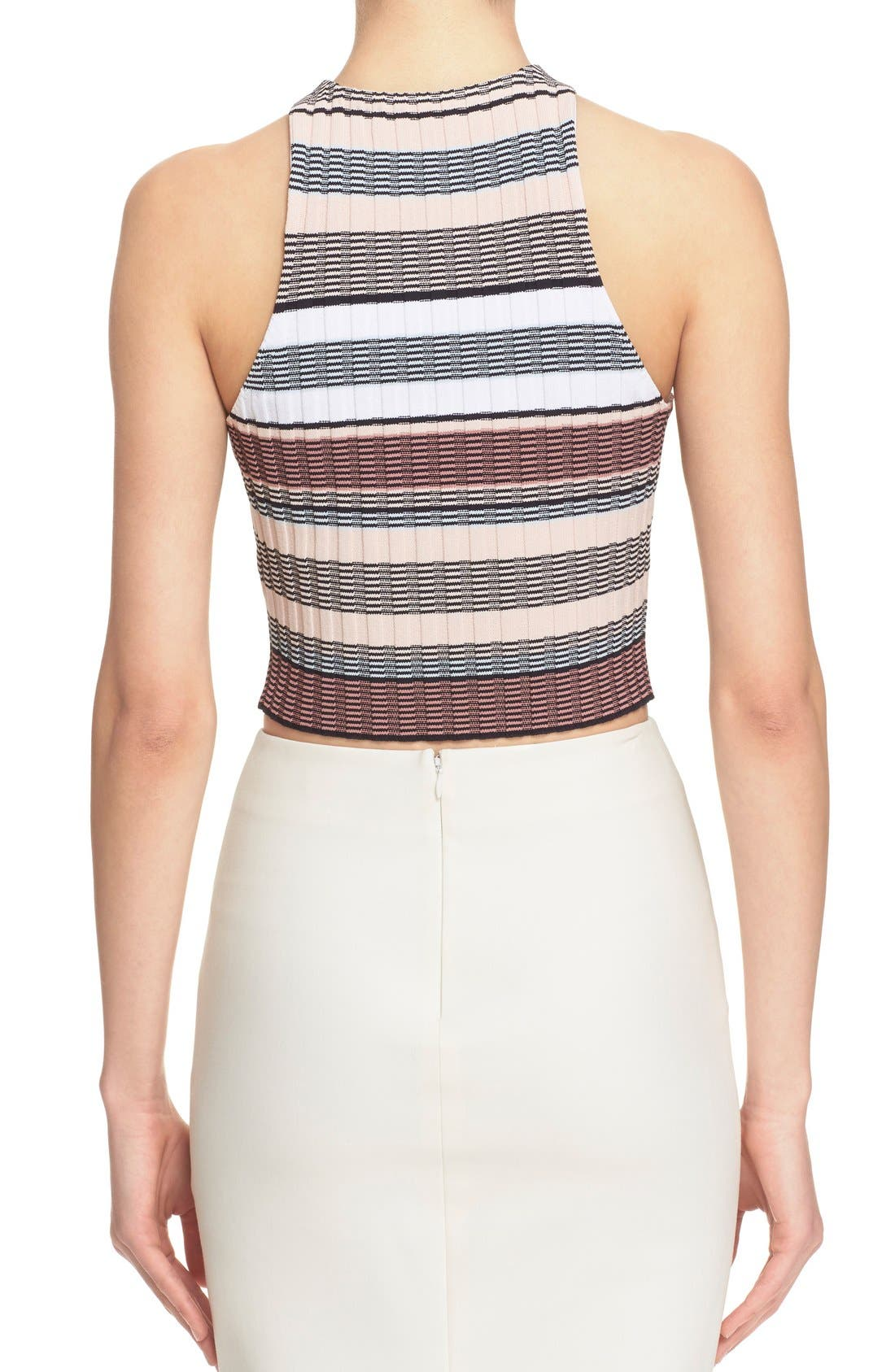 Alternate Image 3  - Elizabeth and James Stripe Racerback Crop Top
