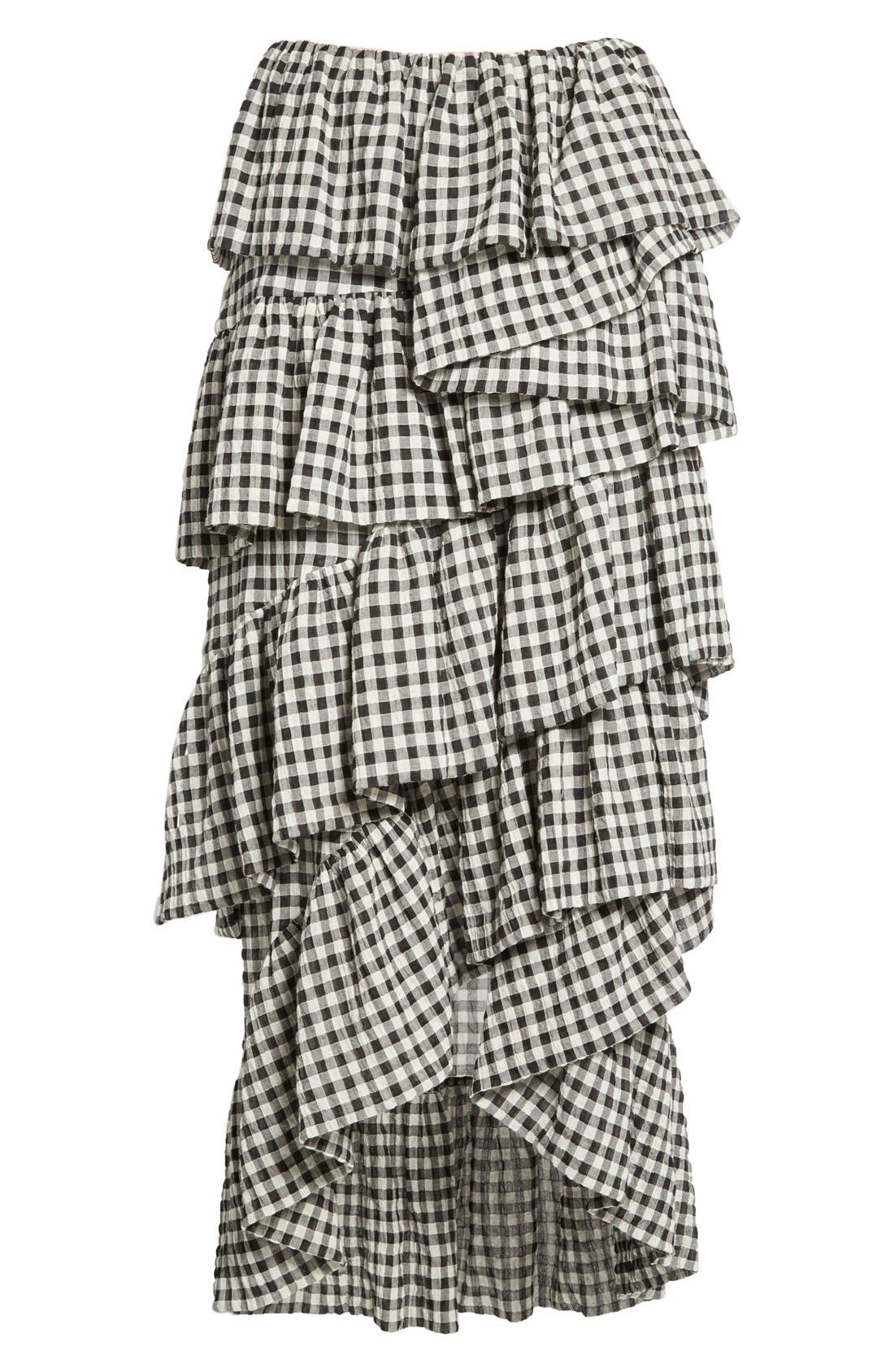 Alternate Image 4  - Isa Arfen 'Full On' Tiered Ruffle Skirt