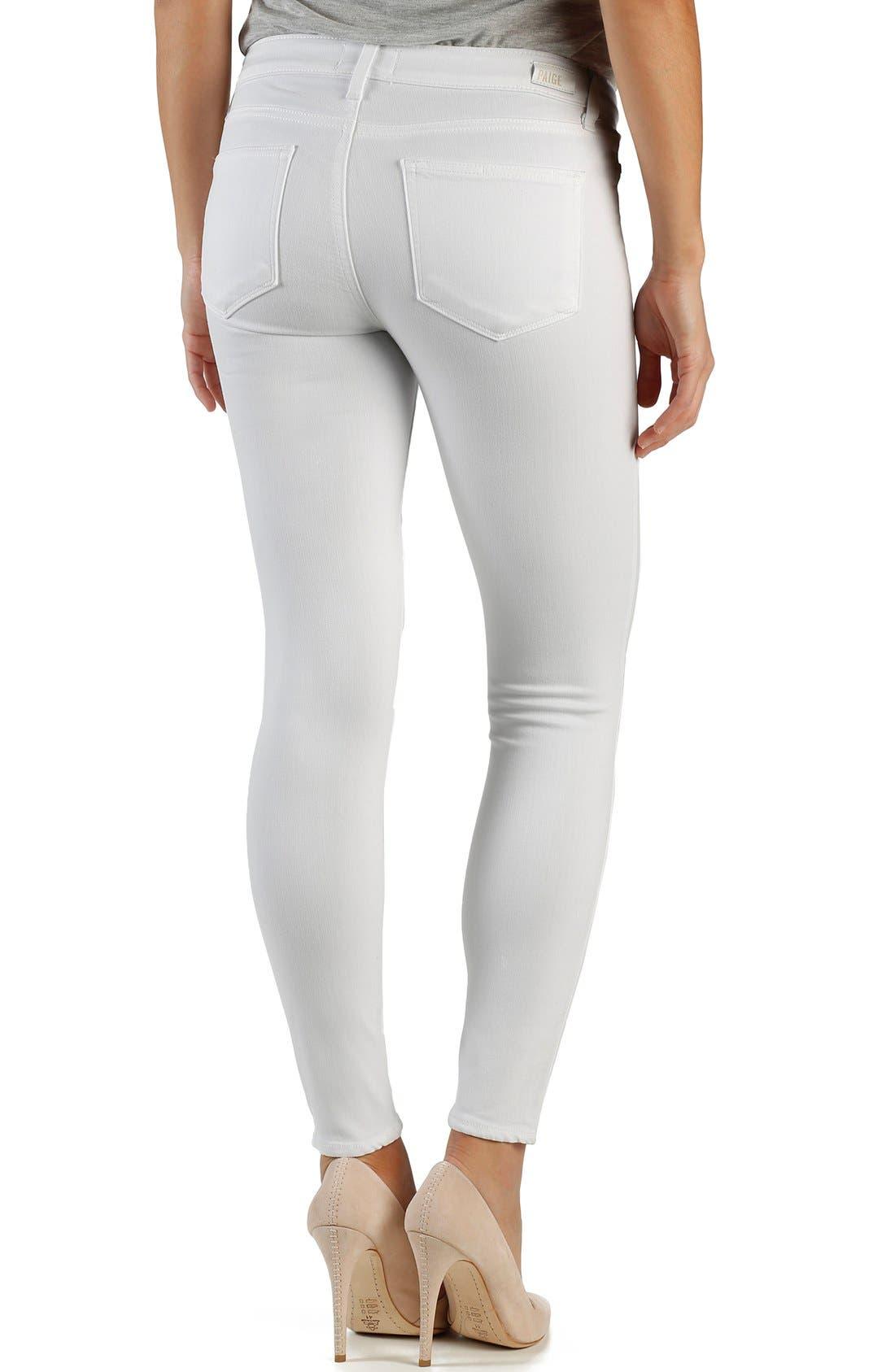 Alternate Image 2  - Paige Denim 'Transcend - Verdugo' Ankle Skinny Jeans (White Mist)