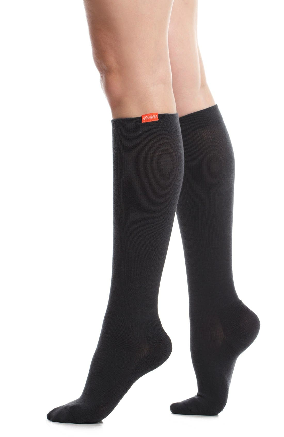 VIM & VIGR Solid Graduated Compression Trouser Socks