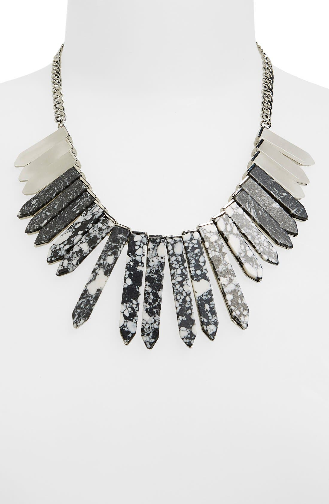 Alternate Image 2  - BaubleBar 'Marble Ra' Bib Necklace