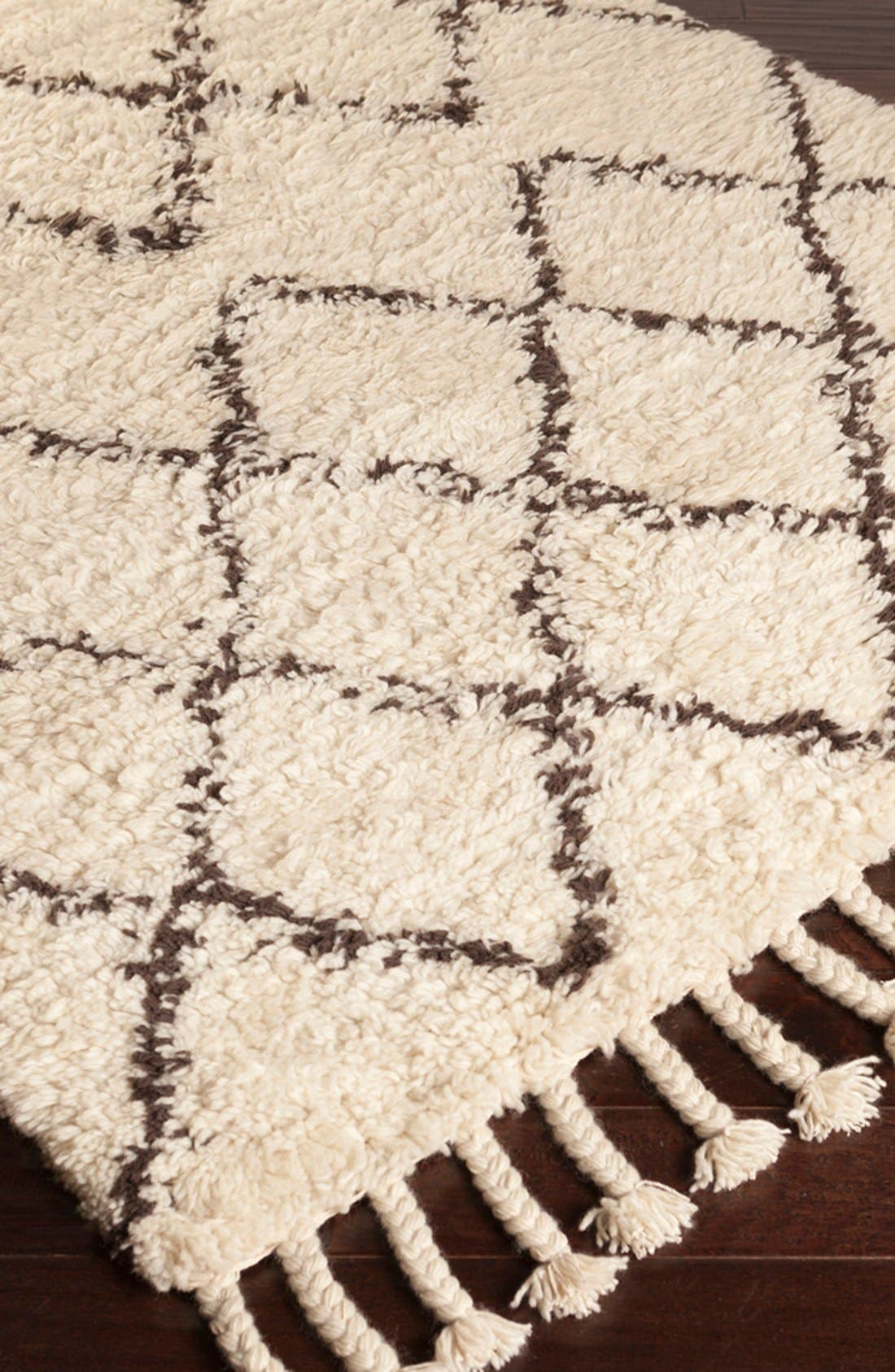 'Sherpa - Lines' Wool Rug,                             Alternate thumbnail 3, color,                             Ivory/ Taupe