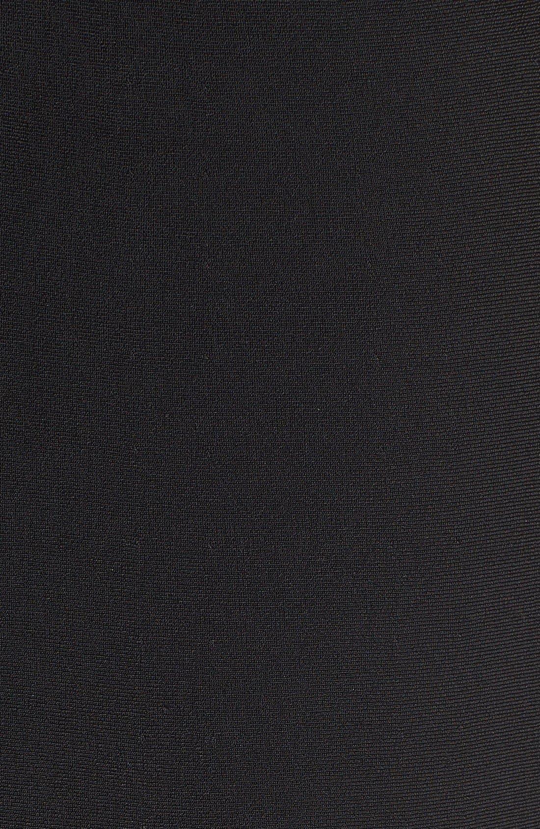 Alternate Image 5  - Halogen® Mock Neck A-Line Dress (Regular & Petite)