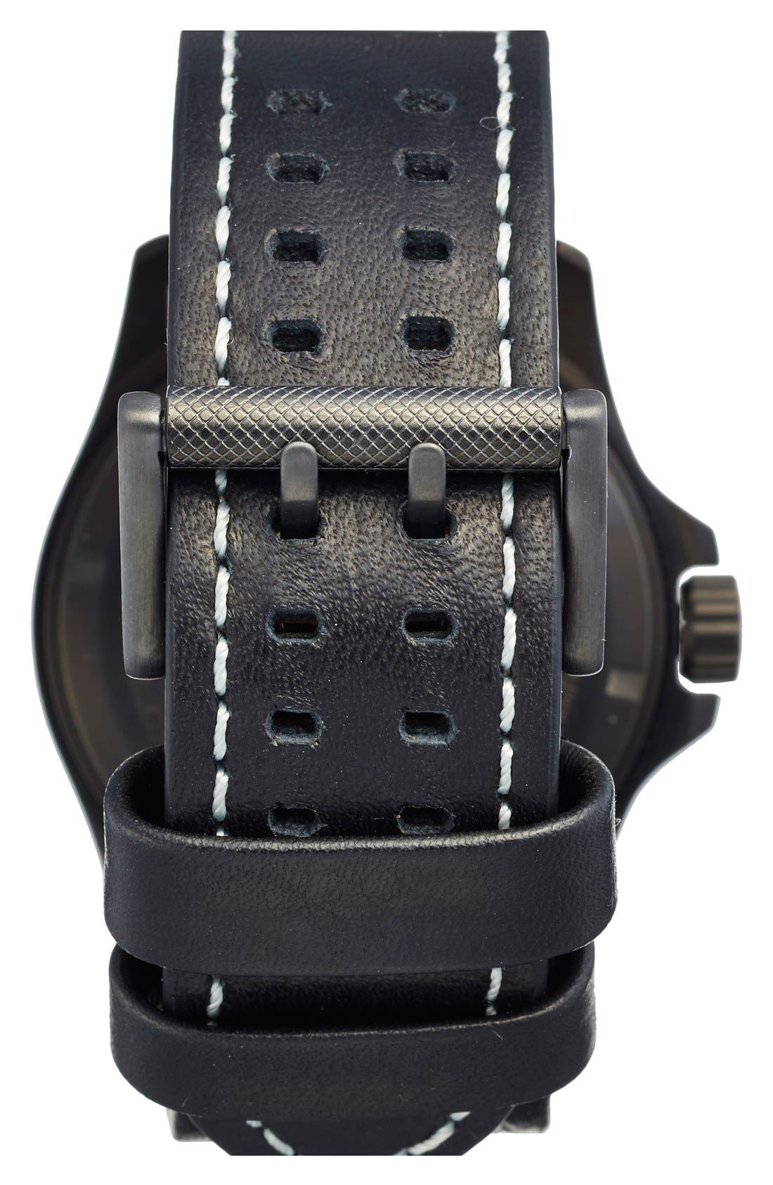 Alternate Image 2  - Luminox 'Land - Atacama Field' Leather Strap Watch, 45mm