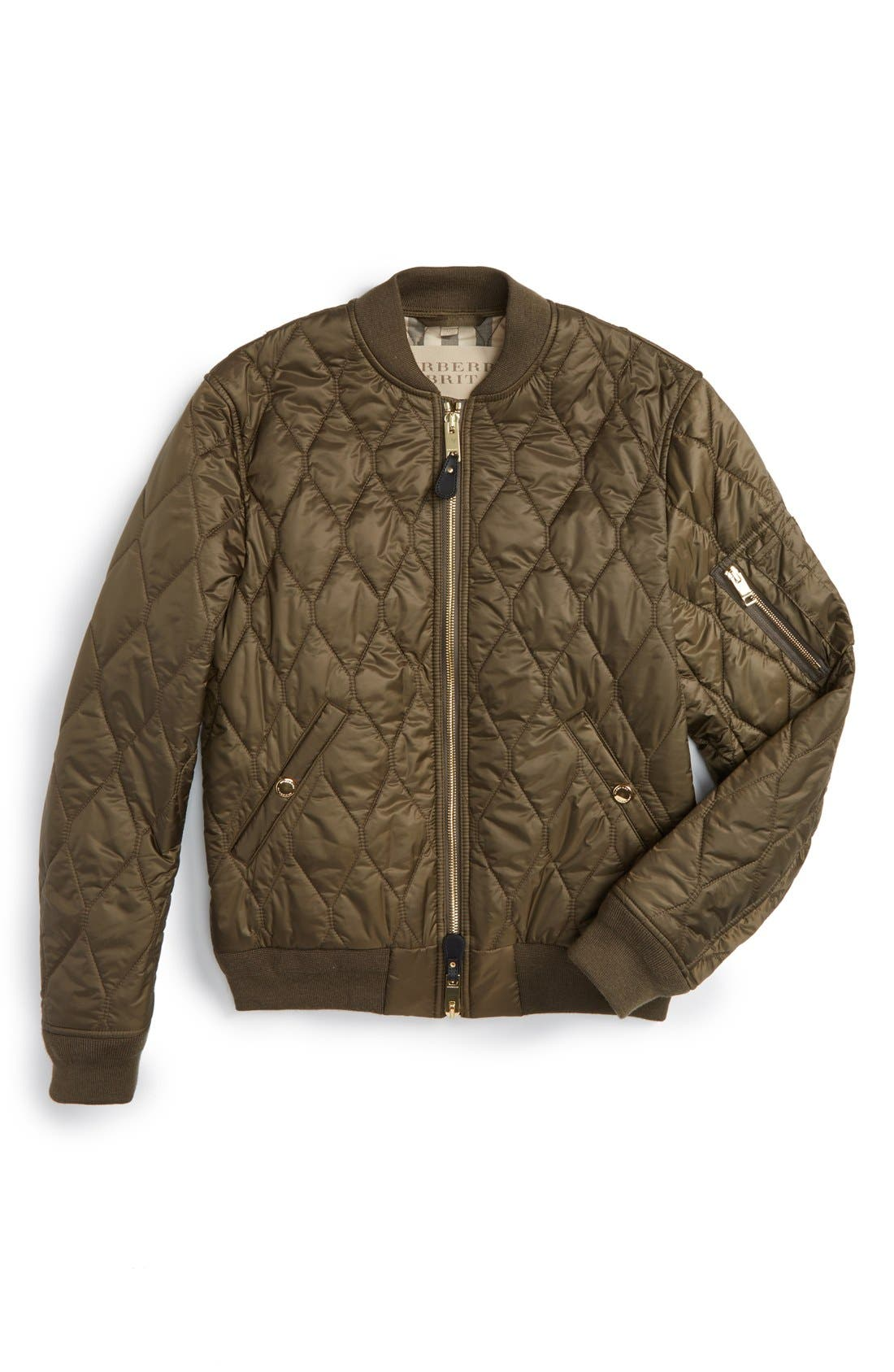 The Britain 'Grandy Aboyg' Quilted Bomber,                             Alternate thumbnail 6, color,                             Oregano