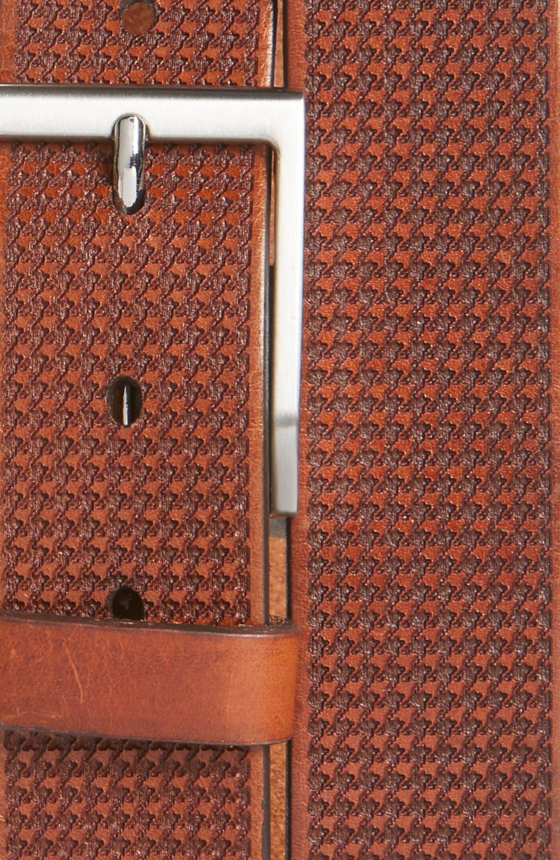 Alternate Image 2  - Allen Edmonds 'Shorewood Avenue' Houndstooth Leather Belt