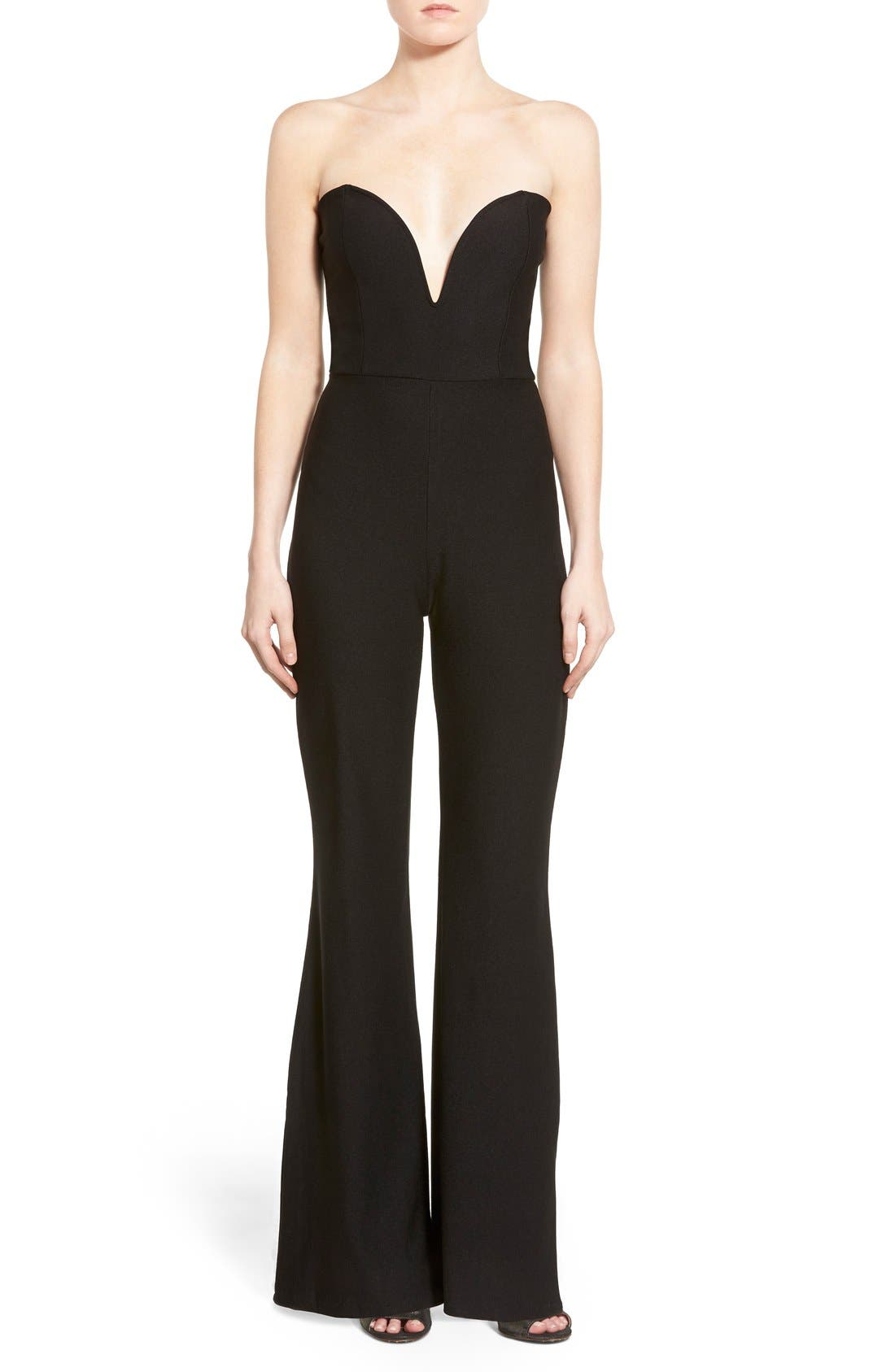 Alternate Image 1 Selected - Missguided Sweetheart Plunge Jumpsuit