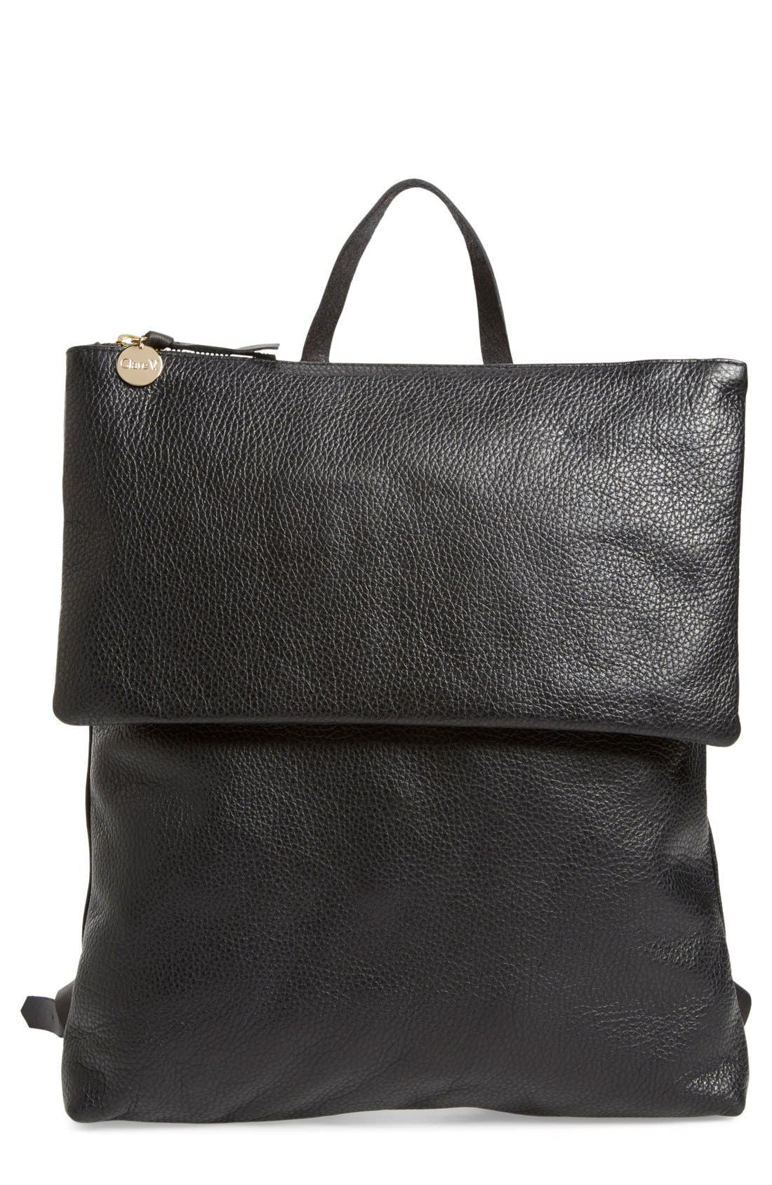Main Image - Clare V. 'Agnes Maison' Leather Backpack