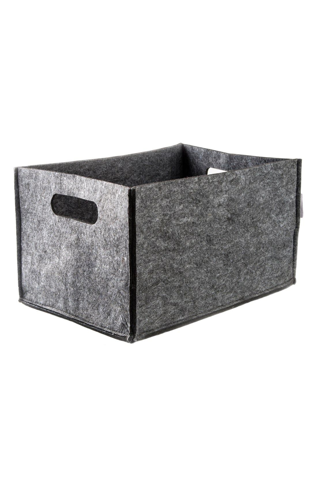 Alternate Image 1 Selected - zestt Felt Storage Basket