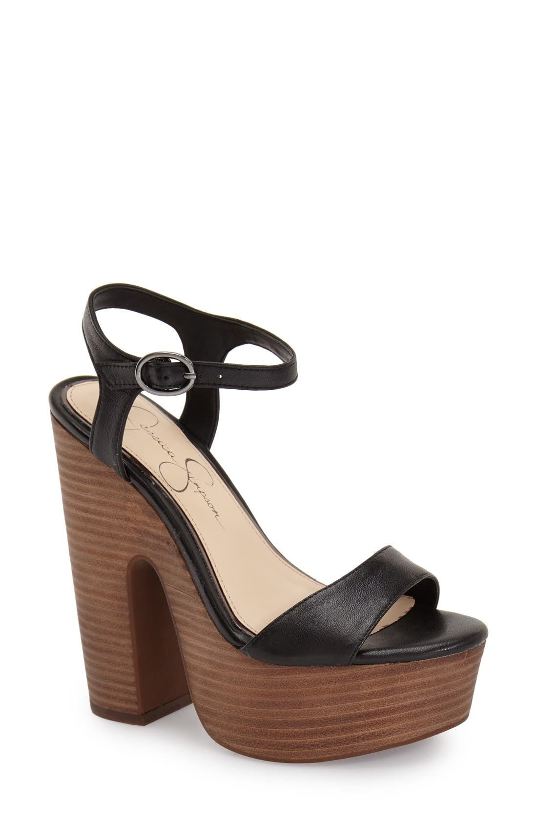 Alternate Image 1 Selected - Jessica Simpson 'Whirl' Platform Sandal (Women)