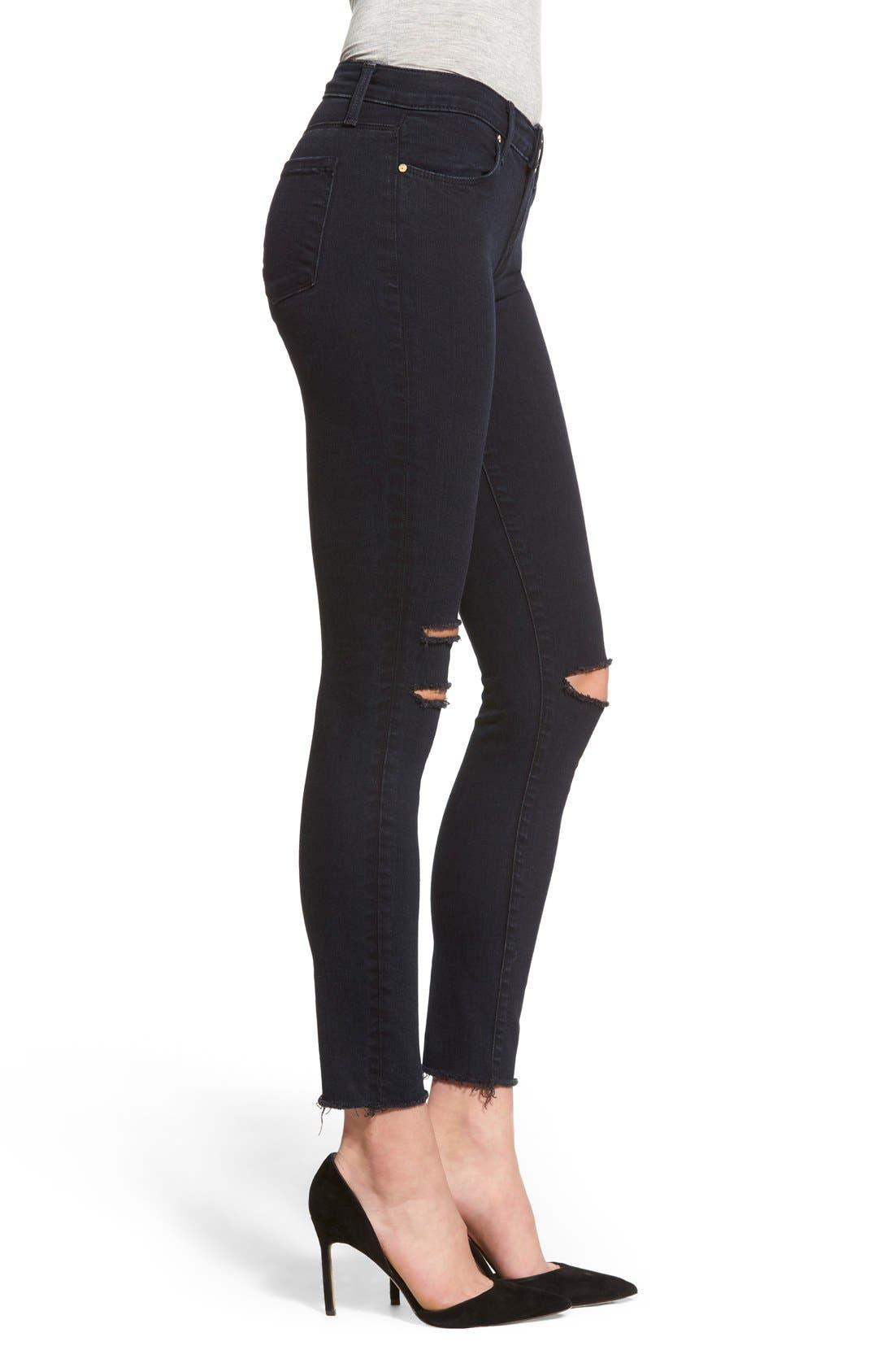 Alternate Image 3  - J Brand Destroyed Crop Skinny Jeans (Blue Mercy)
