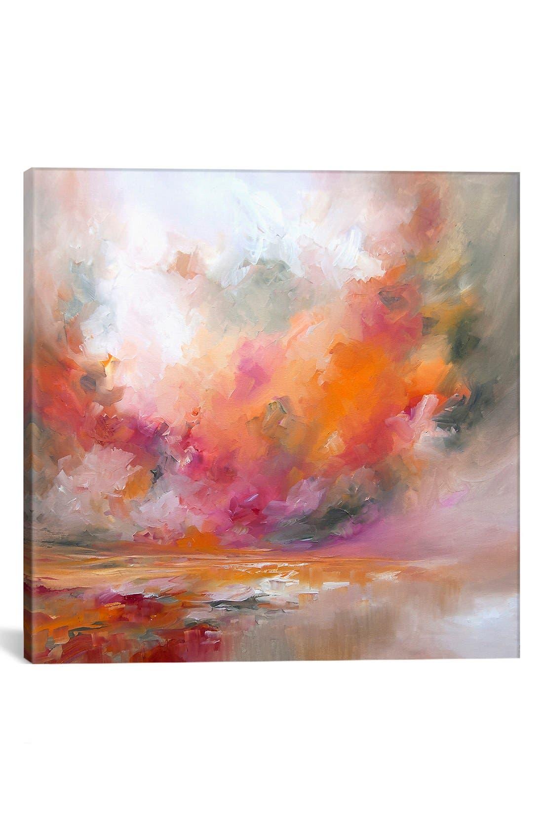 'Color Burst' Giclée Print Canvas Art,                         Main,                         color, Red